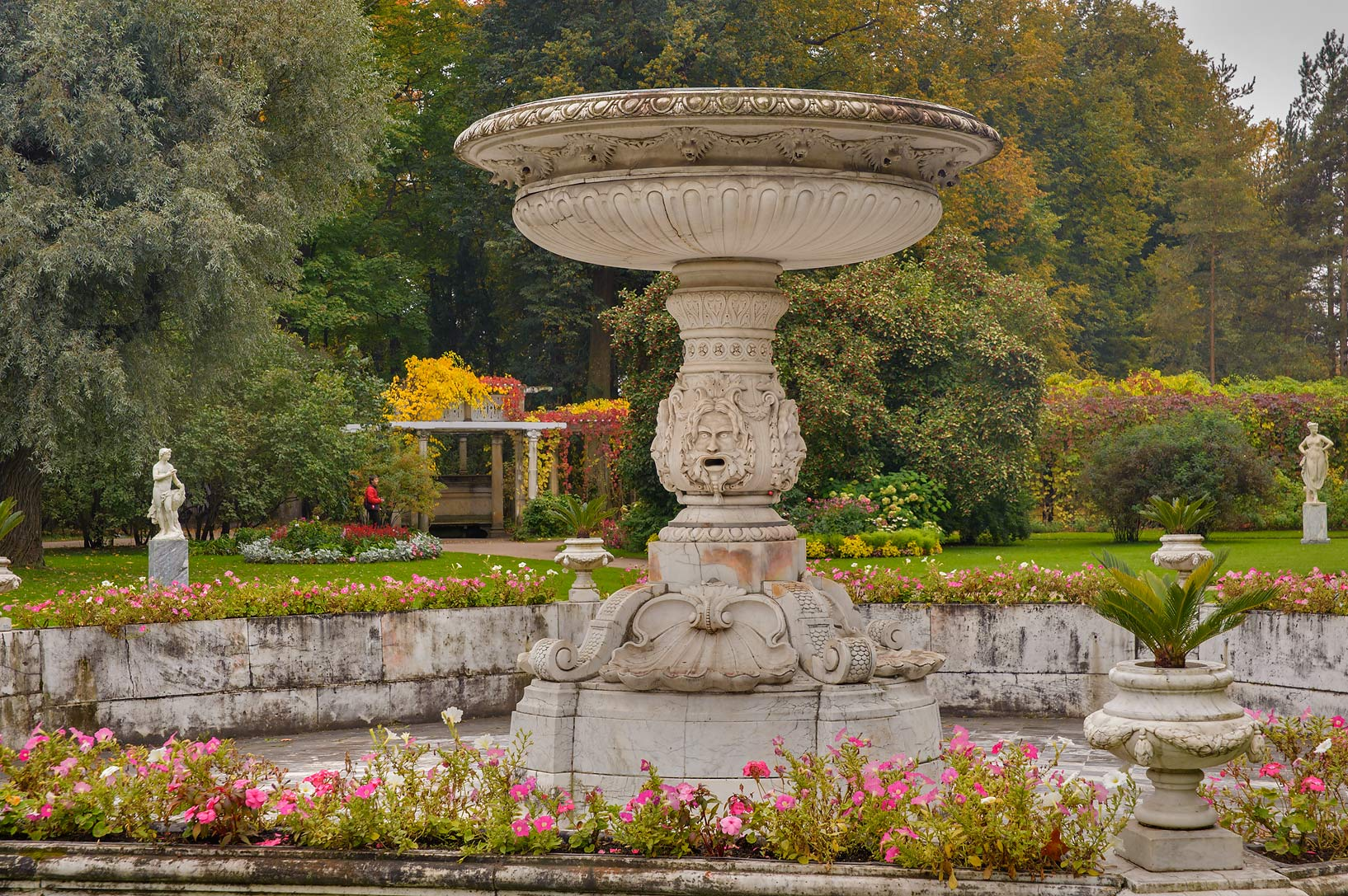 Marble Fountain of Sobstvenny Sadik (Private...Selo) near St.Petersburg, Russia