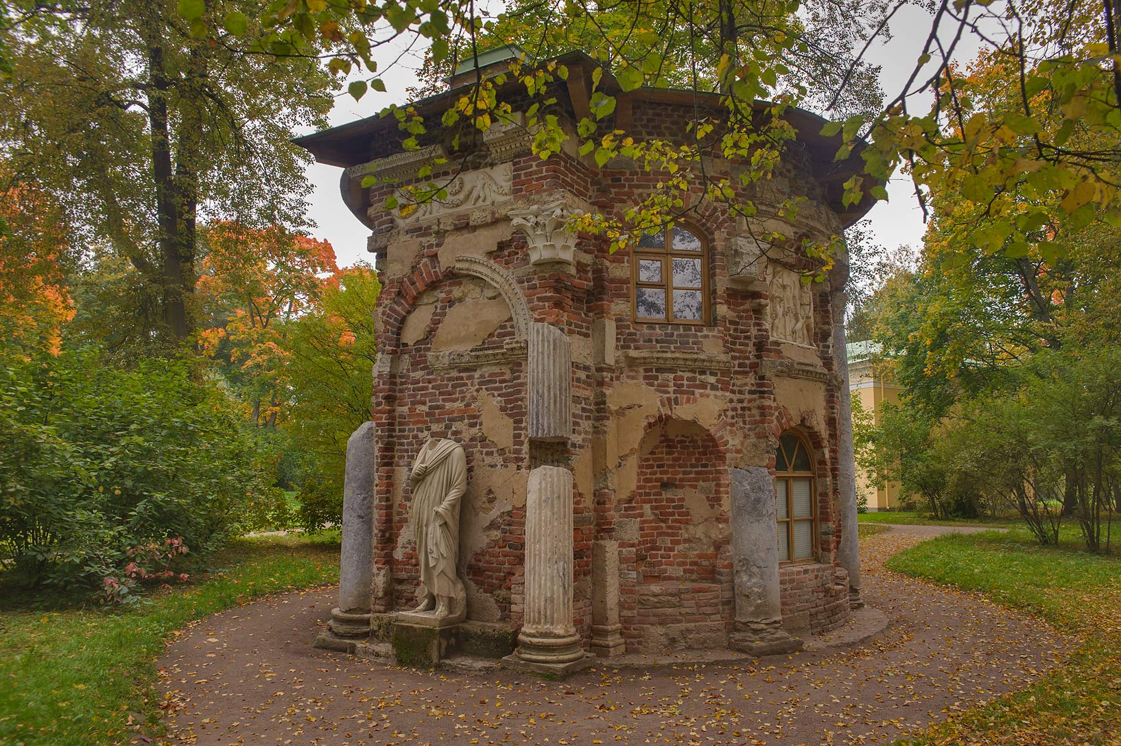 Kitchen Ruin near Upper Ponds in Catherine Park...Selo) near St.Petersburg, Russia