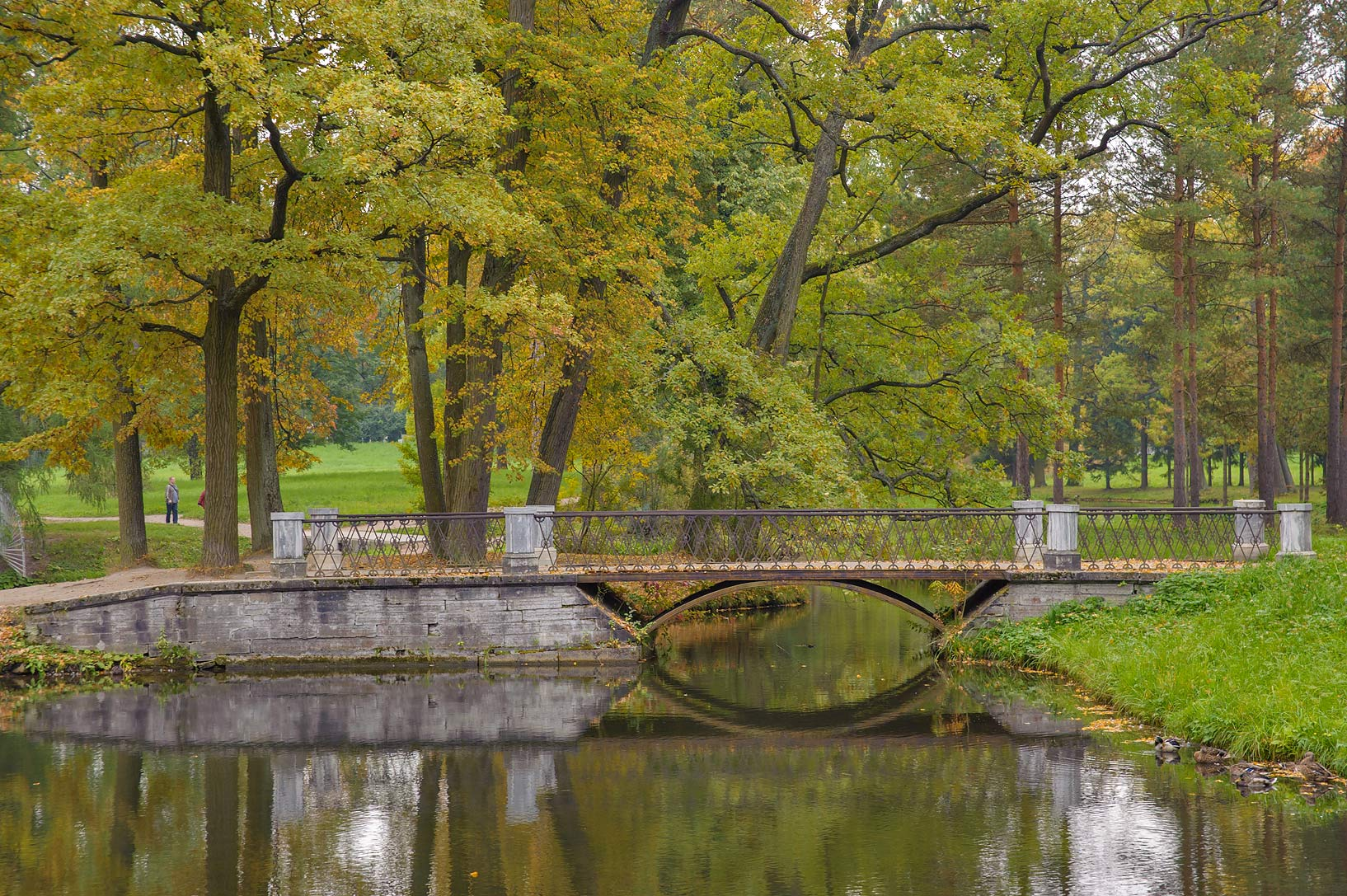 Metal Bridge of Upper Ponds in Catherine Park...Selo) near St.Petersburg, Russia