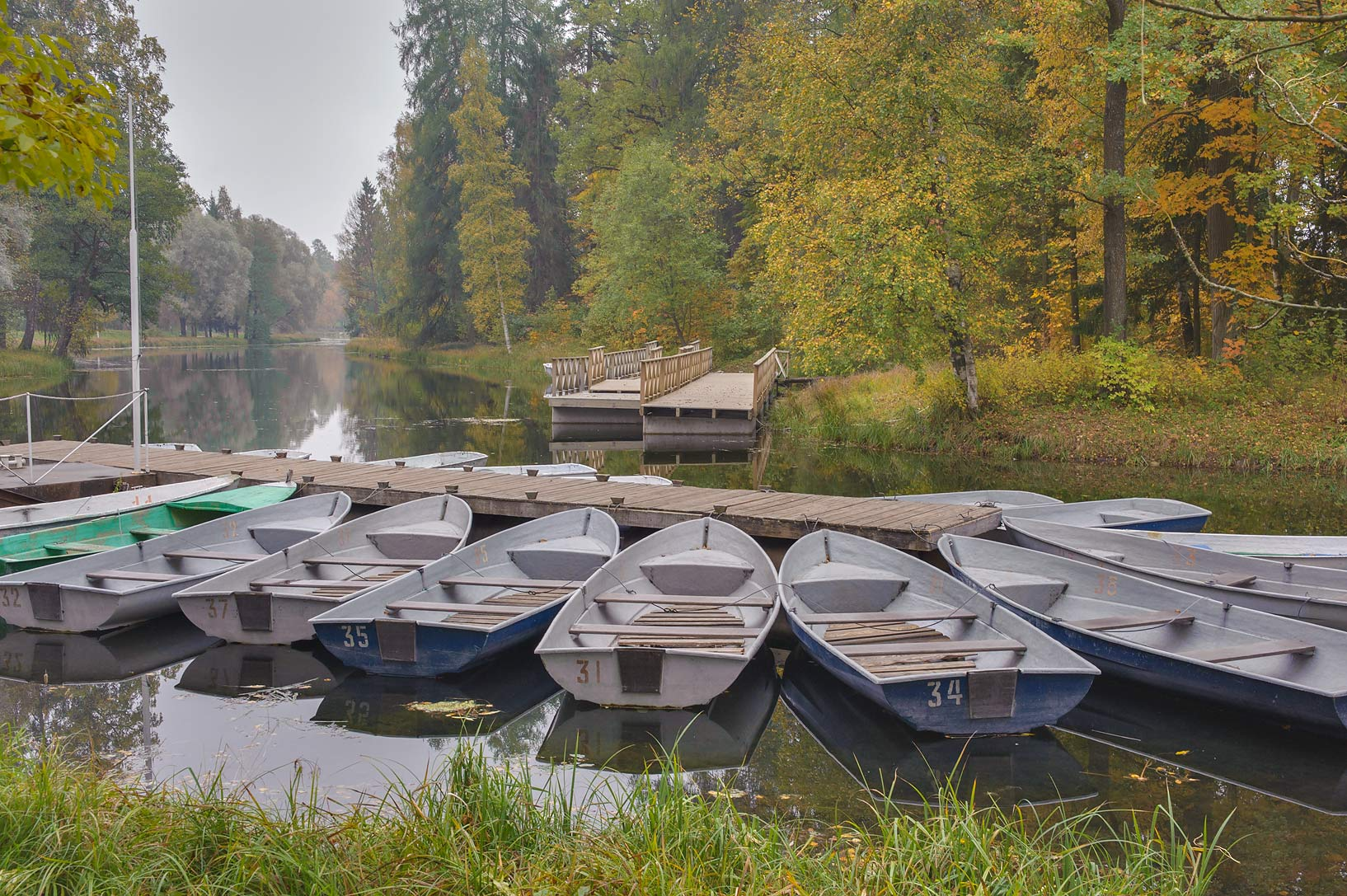 Boat rental at north end of Beloe Lake in Gatchina, a suburb of St.Petersburg. Russia