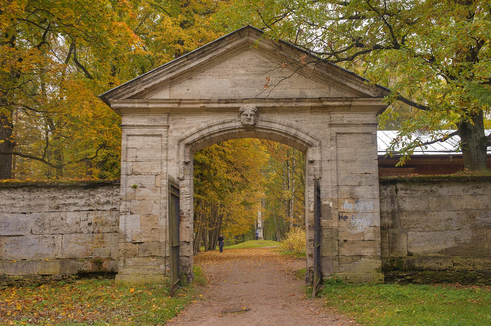 Sylvia Gate of Gatchina Park in Gatchina, a suburb of St.Petersburg. Russia