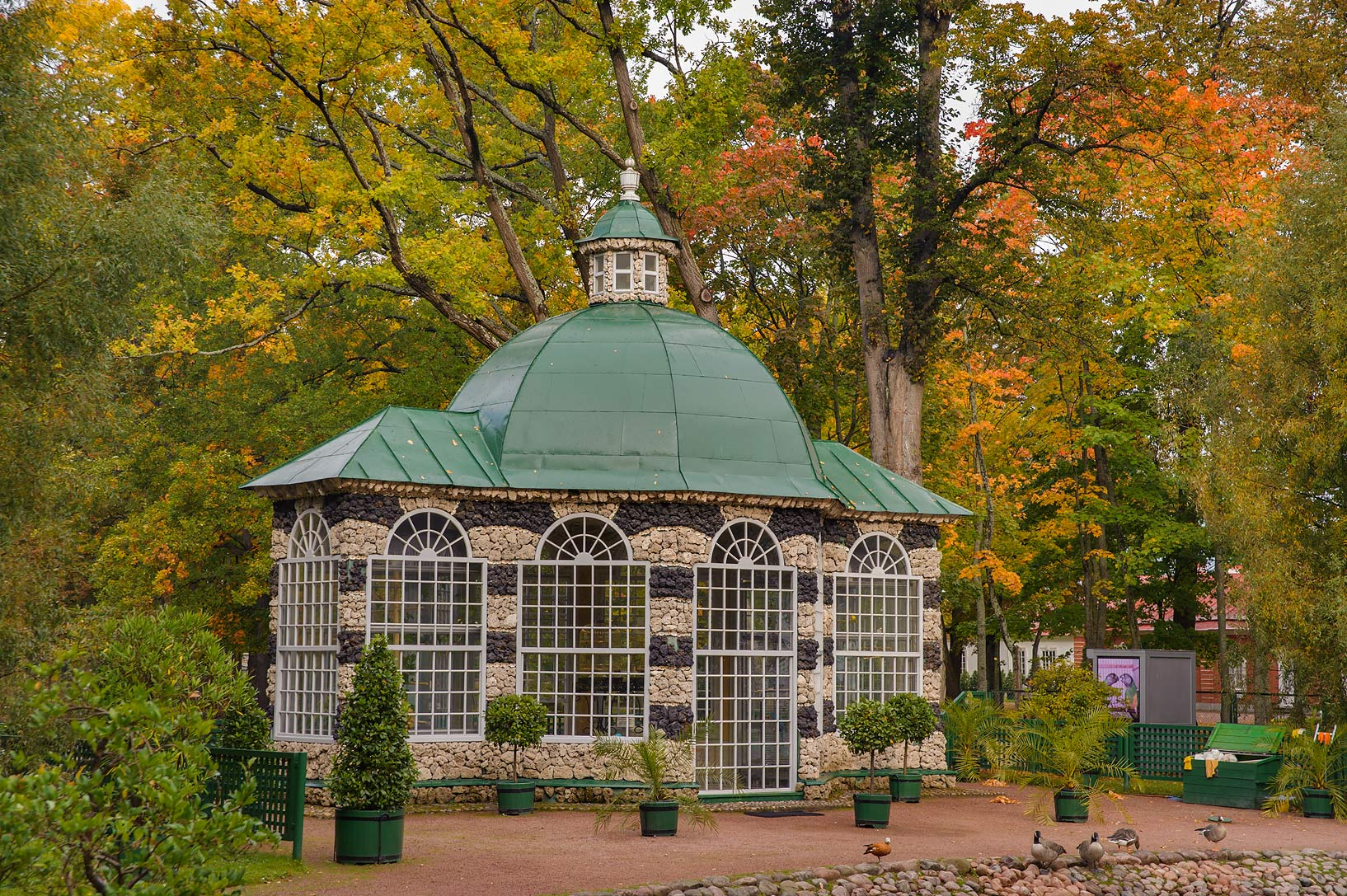 Pavilion Eastern Volyer in Lower Gardens...a suburb of St.Petersburg. Russia
