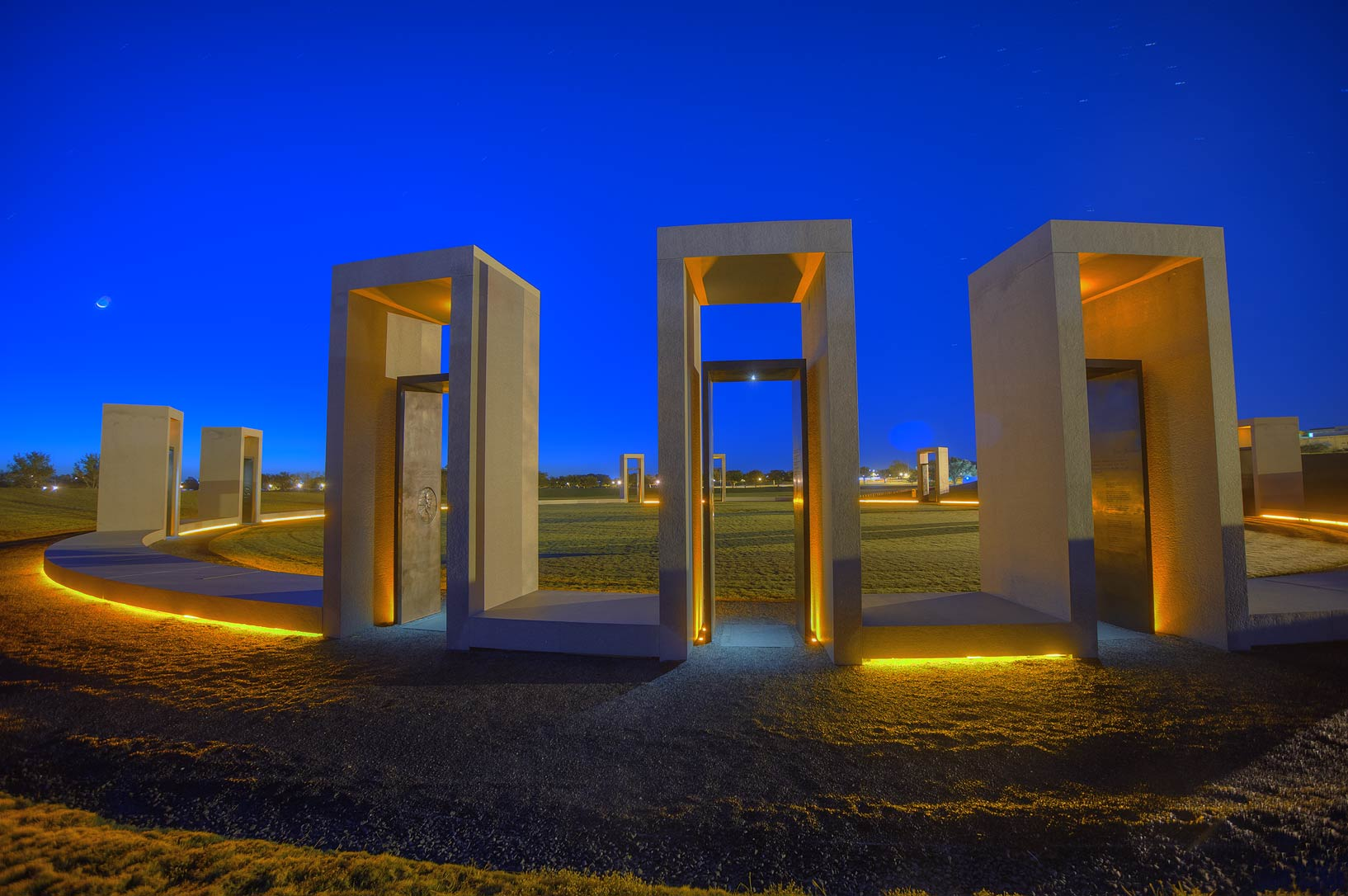 Portals of Spirit Ring of Bonfire Memorial on...M University. College Station, Texas