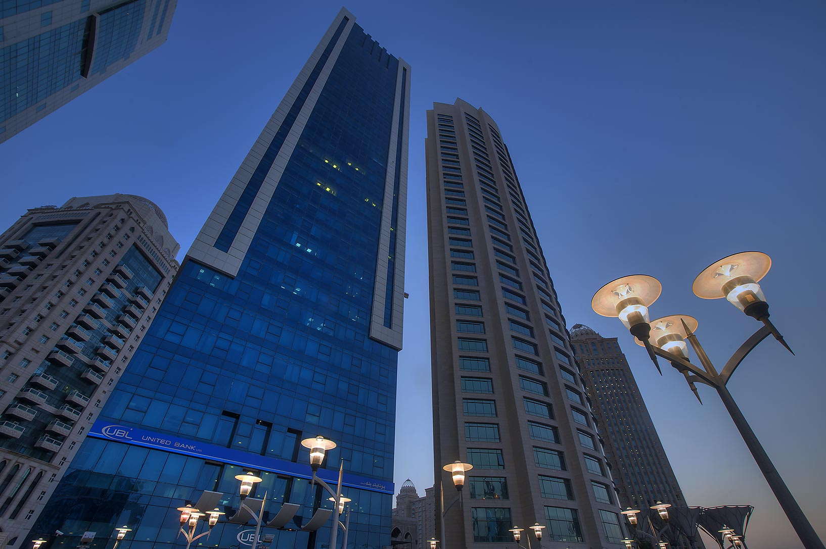 Milaha Tower on Conference Centre St. in West Bay. Doha, Qatar