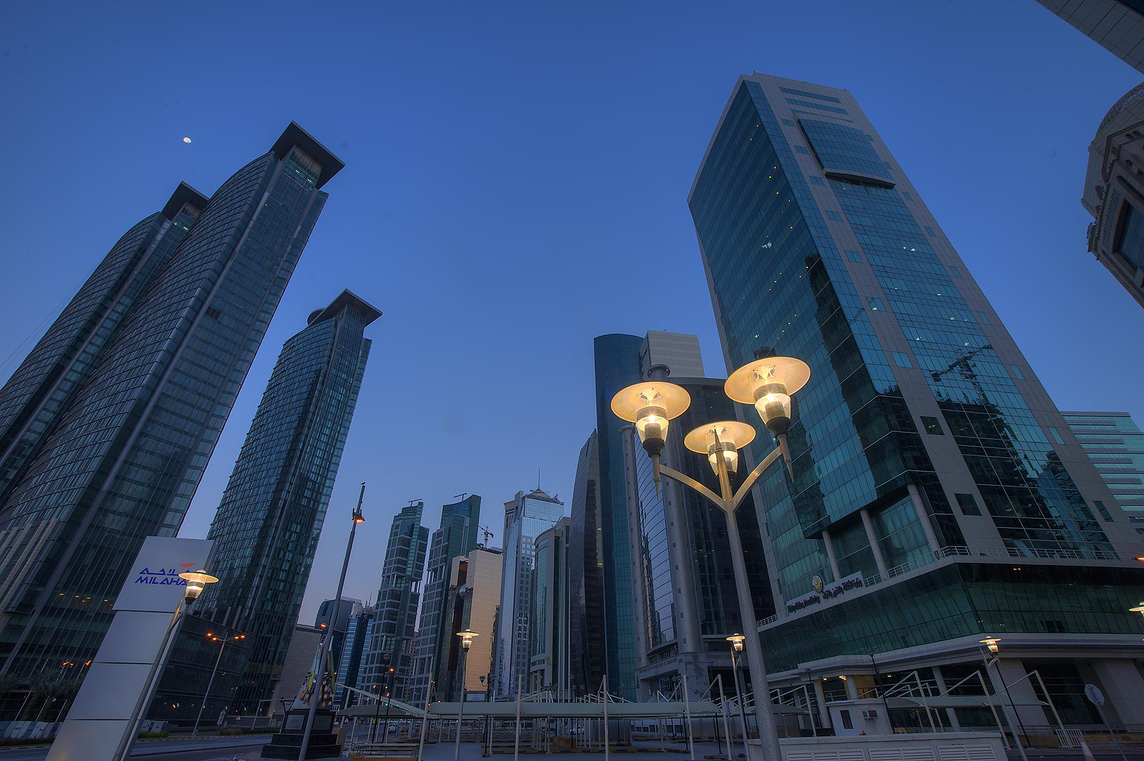 Conference Centre St. in West Bay from Al Dafna Roundabout. Doha, Qatar