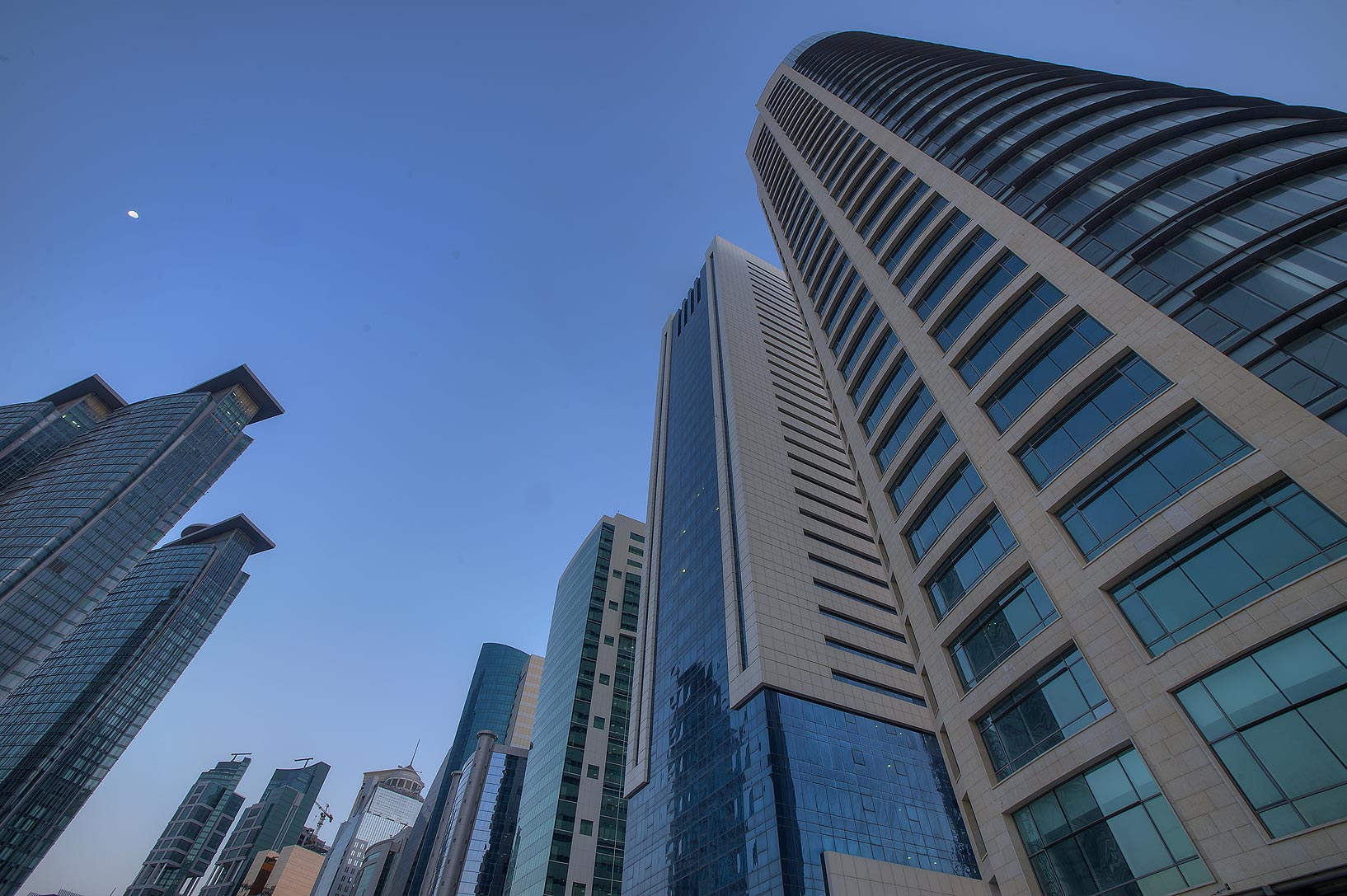 Milaha Tower on Conference Centre St. in West Bay near Al Dafna Roundabout. Doha, Qatar