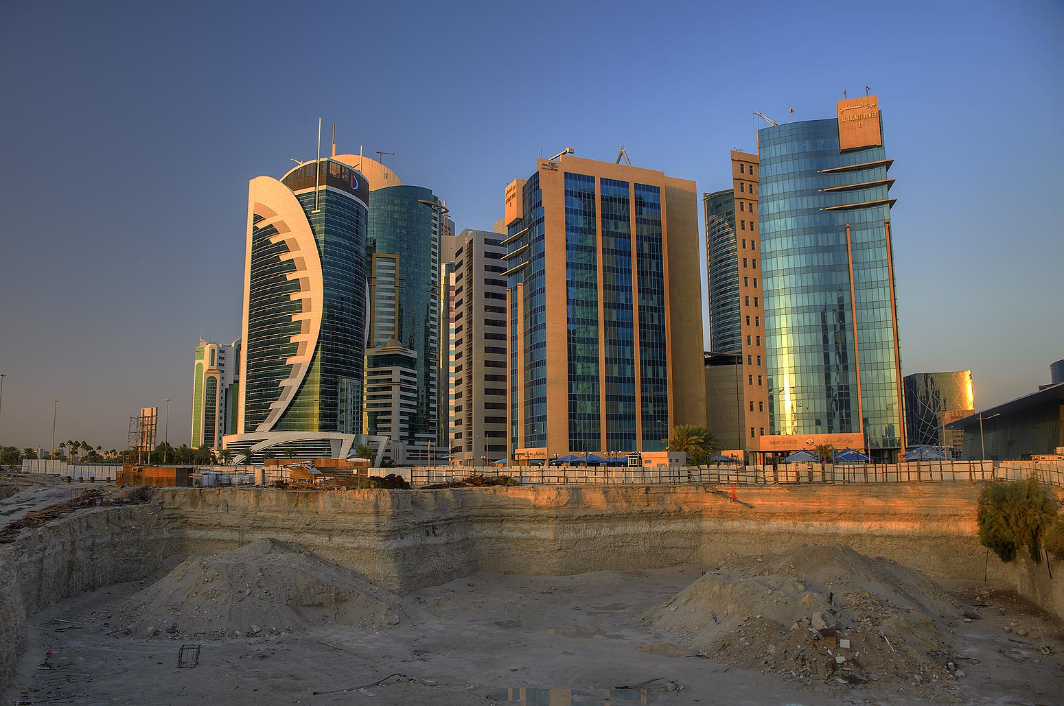 Area south from Exhibition and Convention Center...Bay from Al Corniche St.. Doha, Qatar