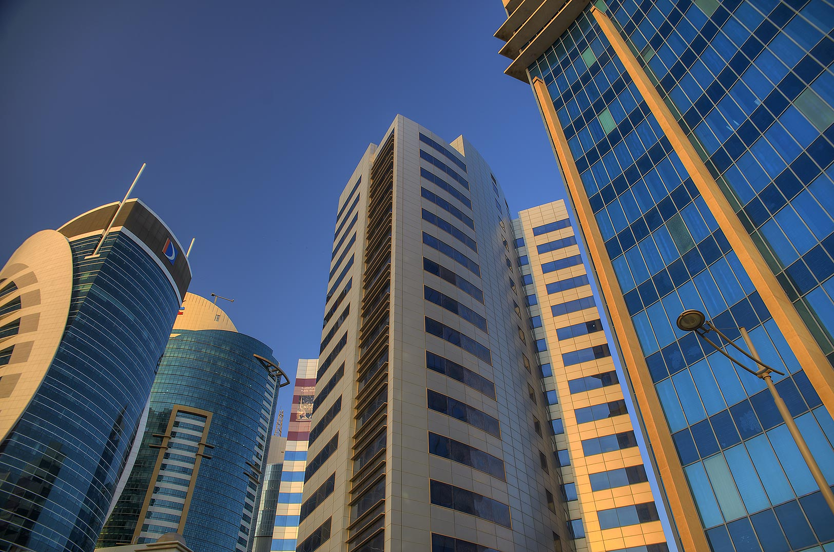 Nakheel, Kahramaa and Doha Bank towers in West Bay. Doha, Qatar