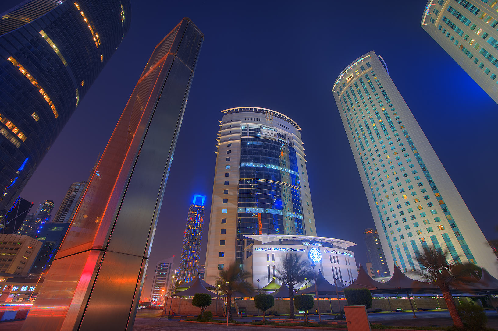 Ministry of Economy and Commerce and Al Fardan Twin Towers in West Bay. Doha, Qatar