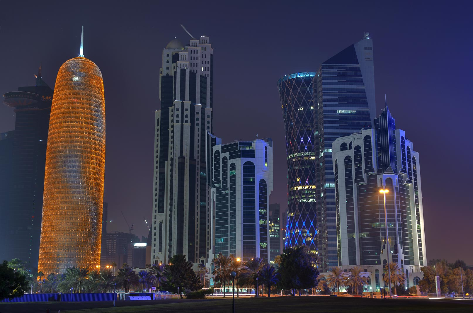 West Bay, view from Sheraton Park. Doha, Qatar