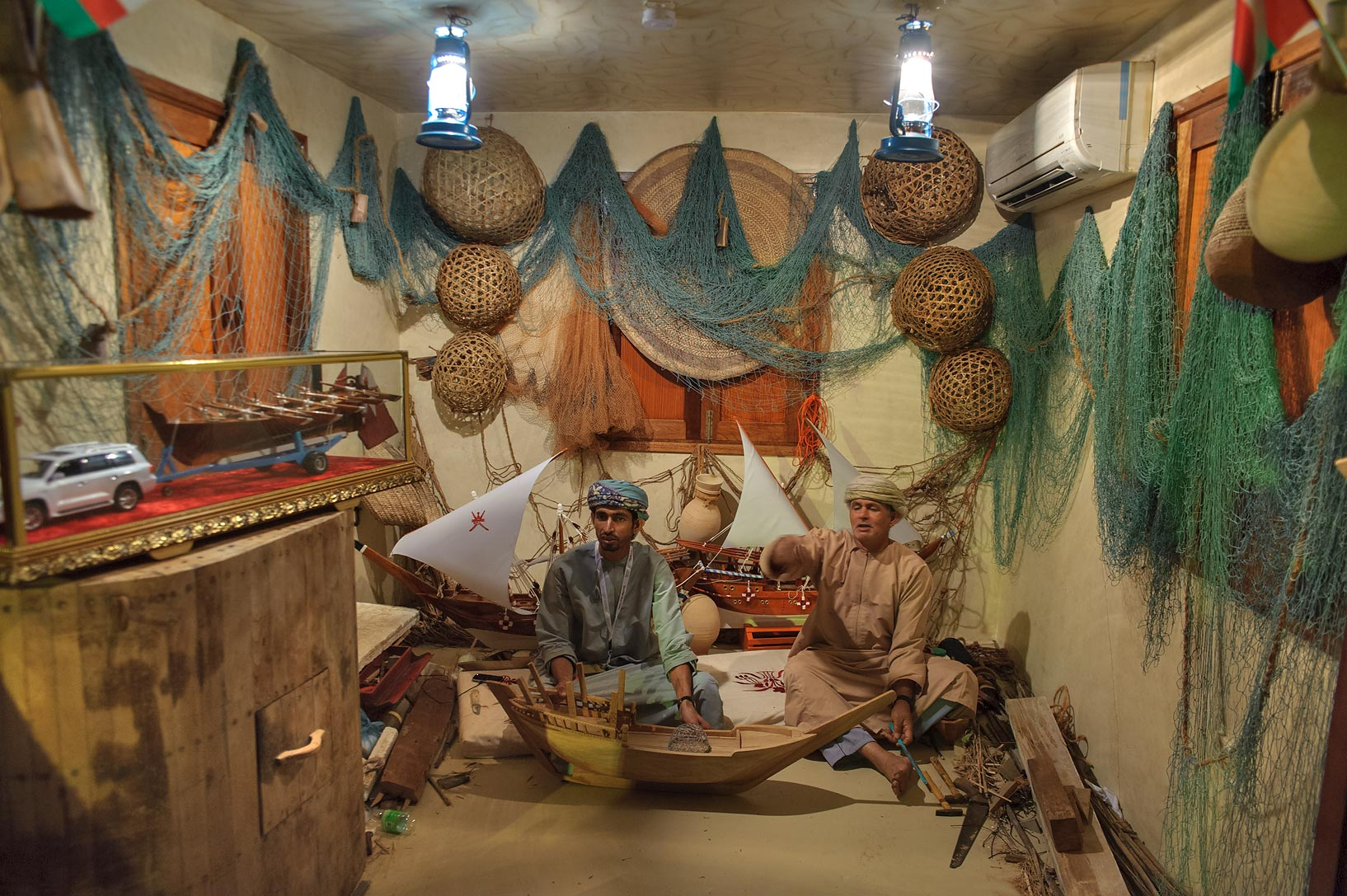 Folk crafts at Traditional Dhow Festival in Katara Cultural Village. Doha, Qatar