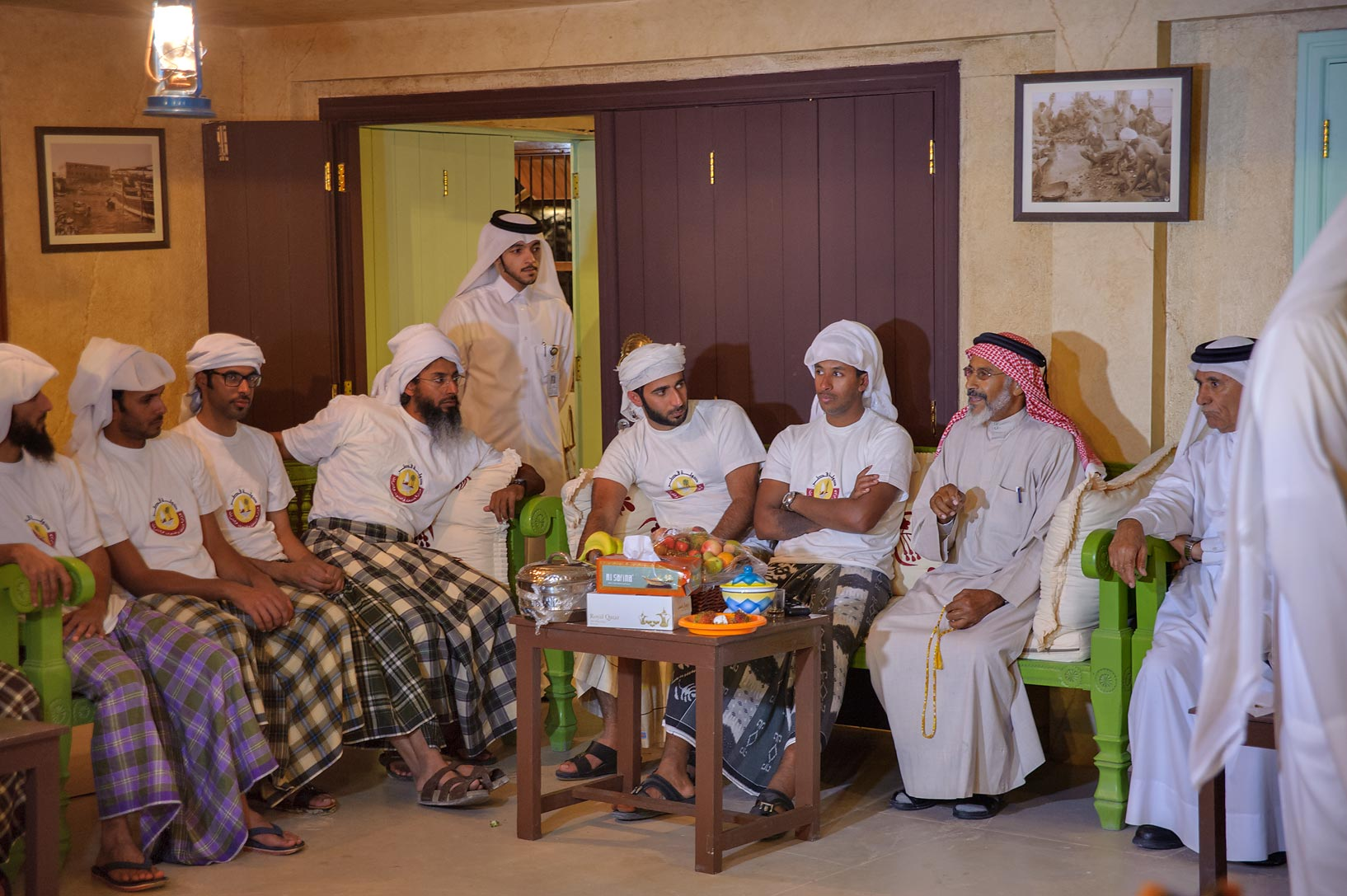 Some meeting at Traditional Dhow Festival in Katara Cultural Village. Doha, Qatar