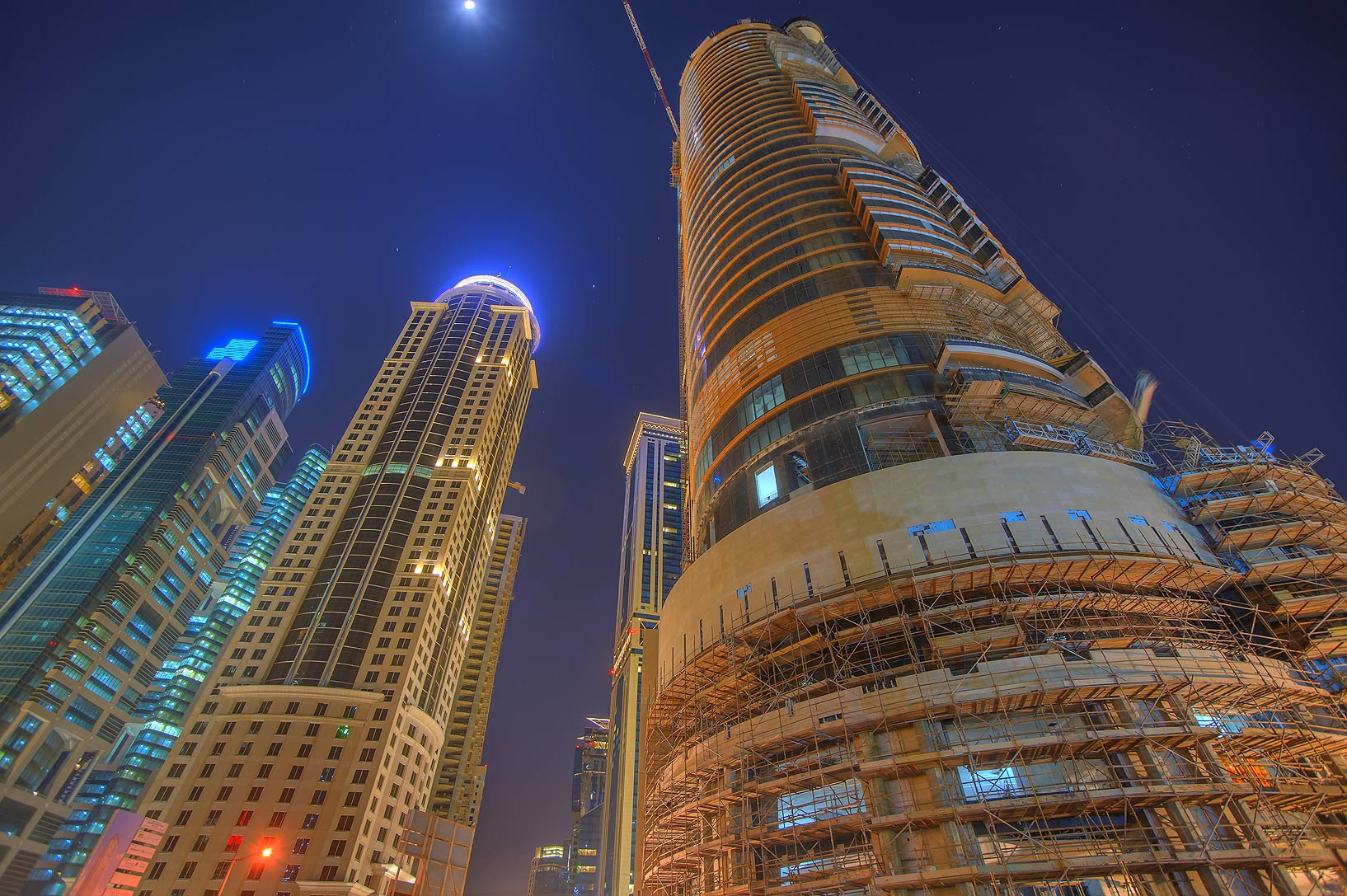 Bin Samikh Hotel Tower in West Bay. Doha, Qatar