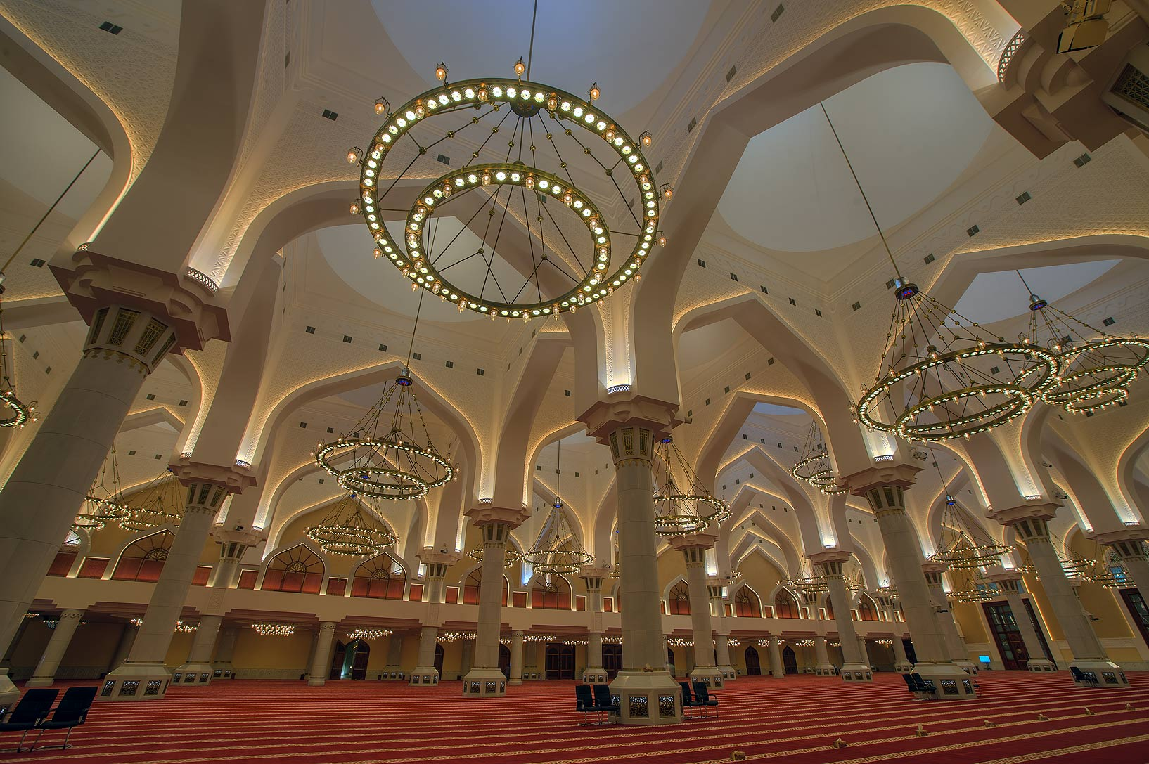 Arches of prayer hall of State Mosque (Sheikh...Ibn Abdul Wahhab Mosque). Doha, Qatar