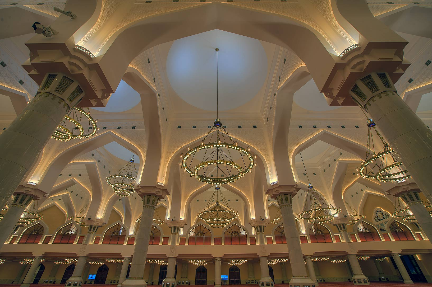 Vaulted ceiling of State Mosque (Sheikh Imam...Ibn Abdul Wahhab Mosque). Doha, Qatar