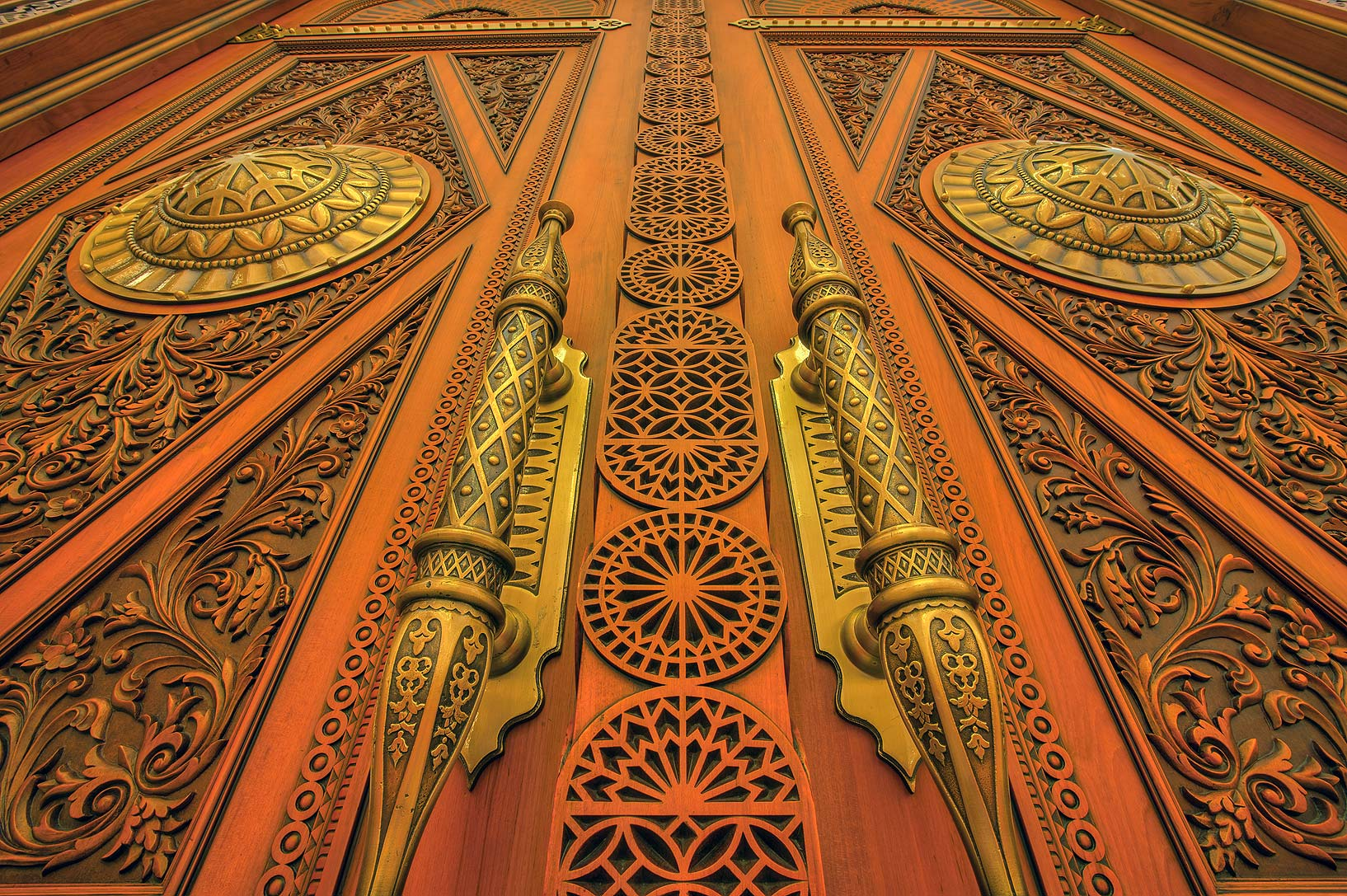 Close up of a door of State Mosque (Sheikh Imam...Ibn Abdul Wahhab Mosque). Doha, Qatar