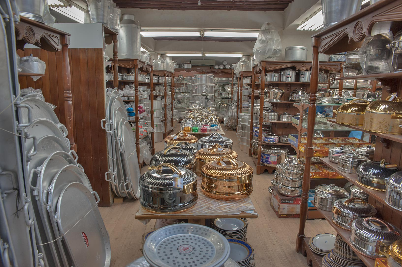 Kitchenware shop in Souq Waqif (old market). Doha, Qatar