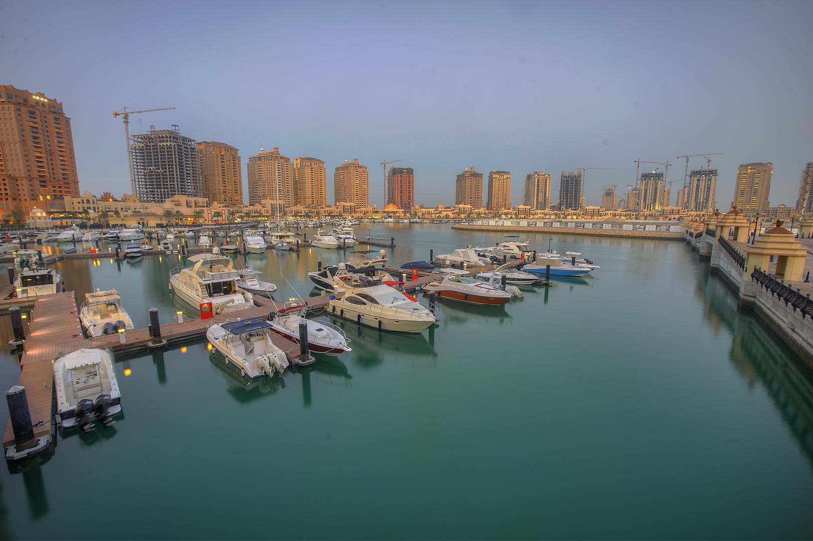 Pier E in Porto Arabia in the Pearl Qatar development. Doha, Qatar