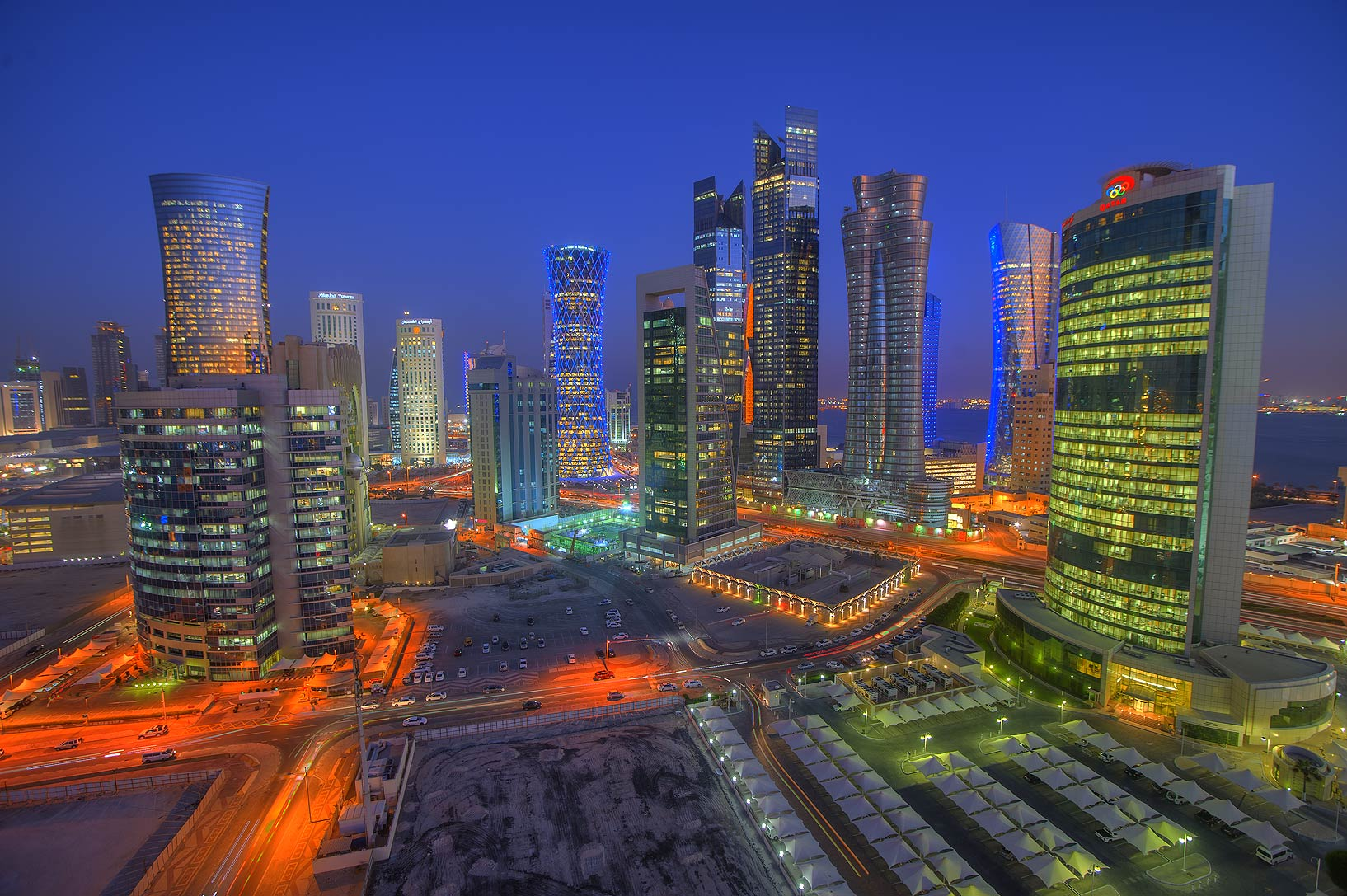 Area of West Bay from Room 1604 of Dareen Tower. Doha, Qatar