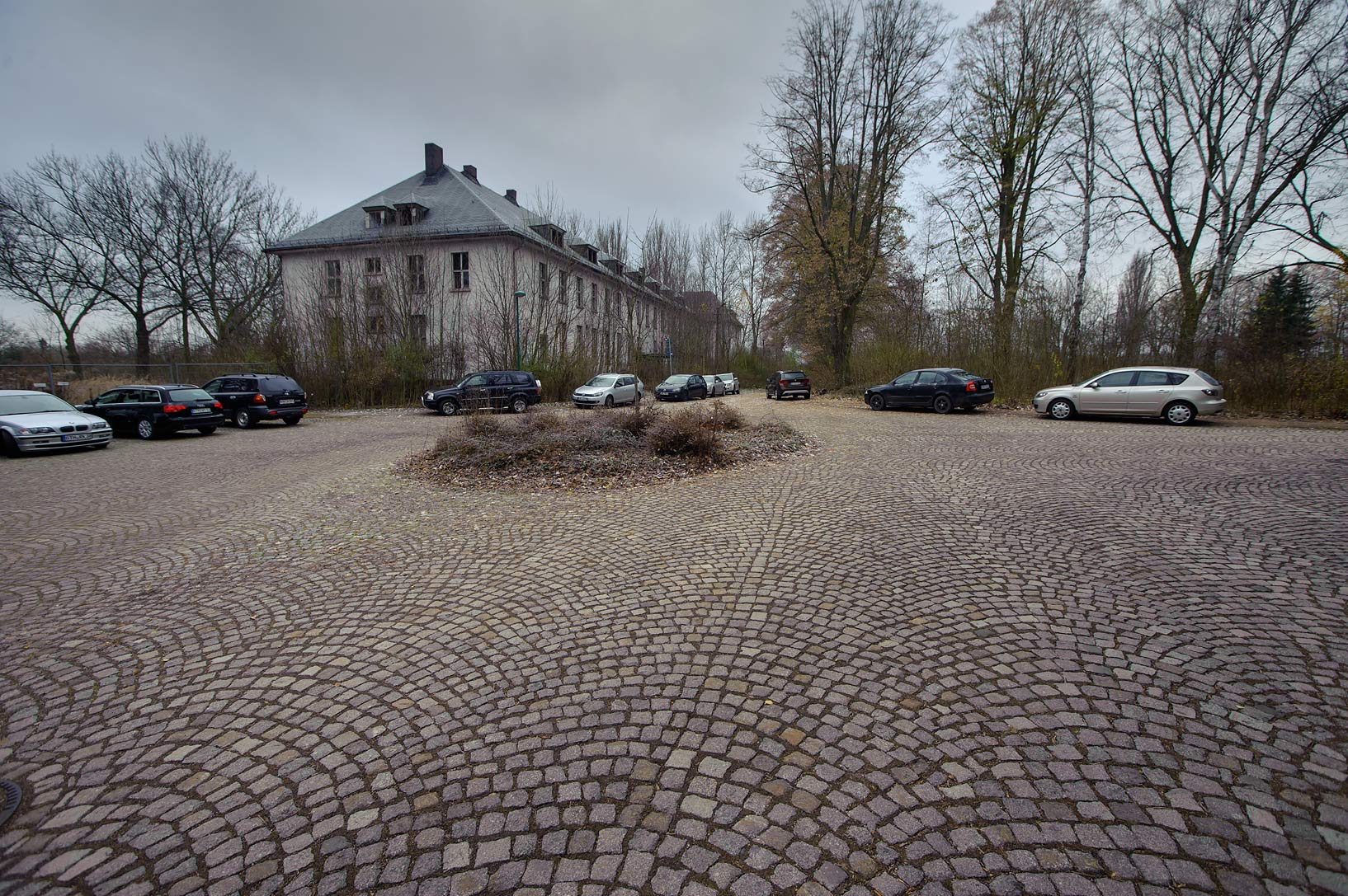 Stone pavement near old Red Army headquarters. Gotha, Germany