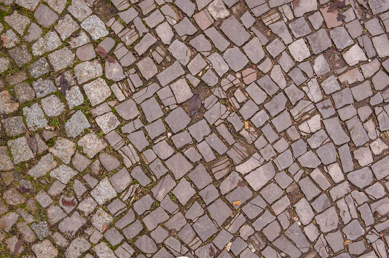 Street pavement in Old city. Eisenach, Germany