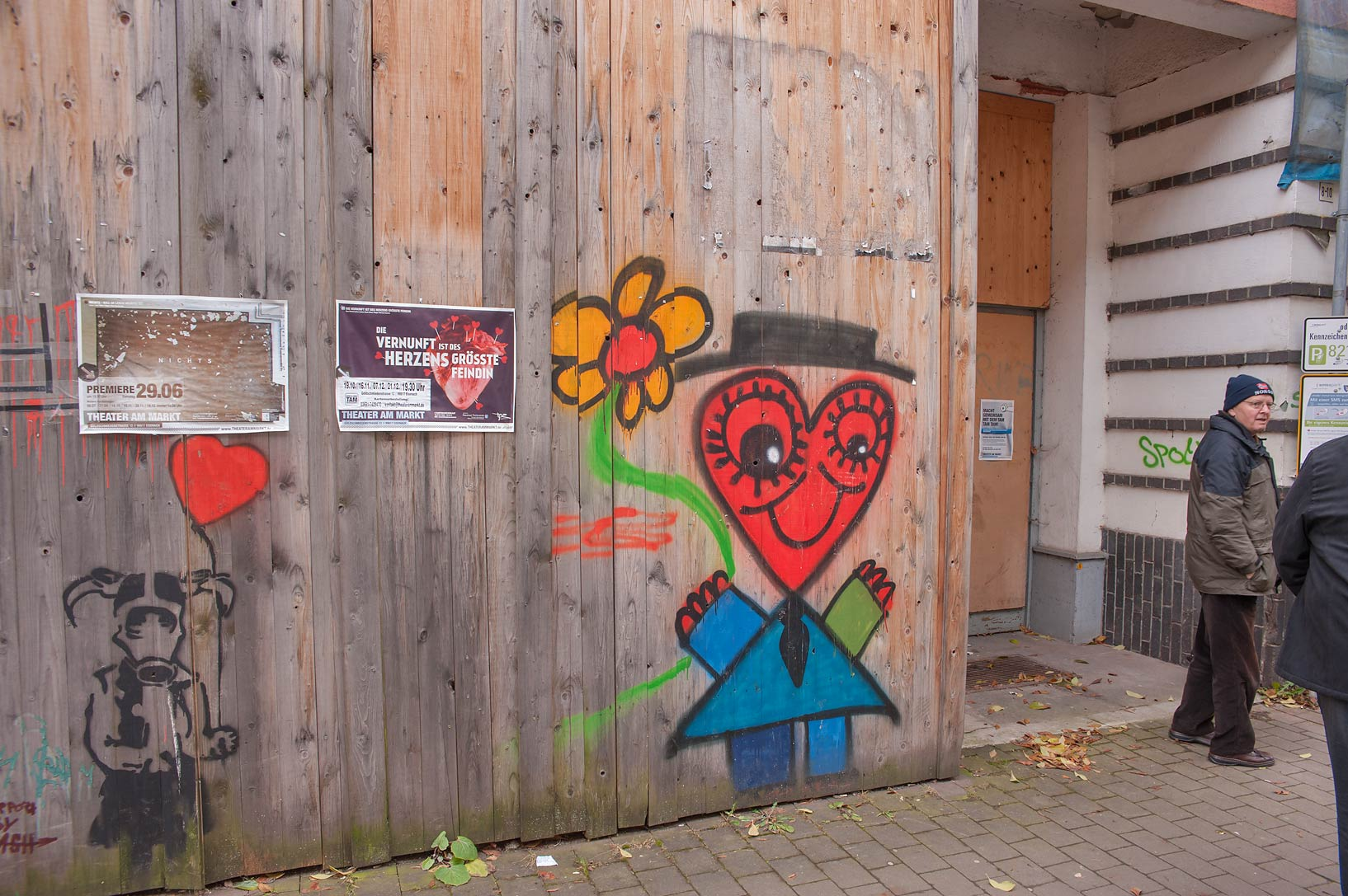 Graffiti on a street. Eisenach, Germany