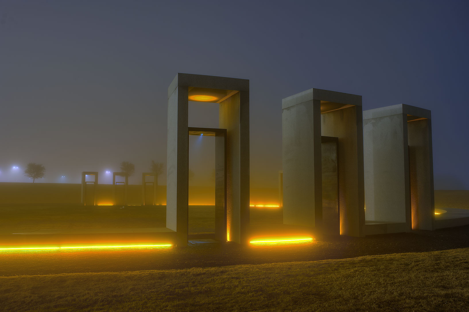 Spirit Ring of Bonfire memorial on campus of...M University. College Station, Texas