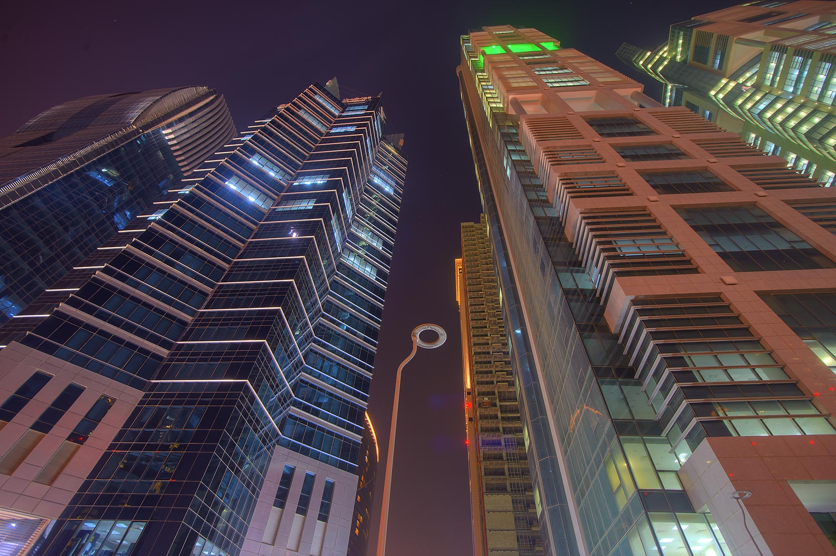 Dolphin Energy Tower and other tower at Conference Center St. in West Bay. Doha, Qatar