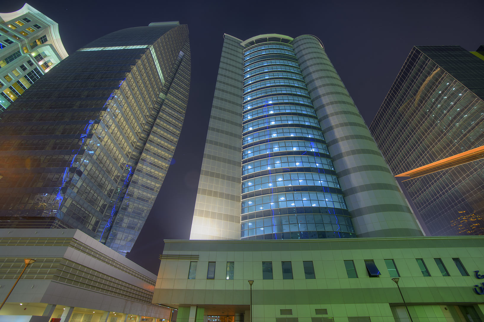 Towers in West Bay opposite to Ezdan Hotel. Doha, Qatar