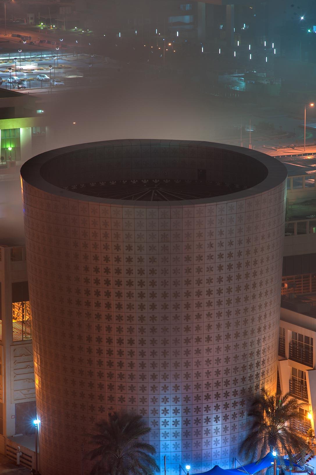 Cooling Plant in West Bay, view from Room 1703 of Dareen Tower. Doha, Qatar