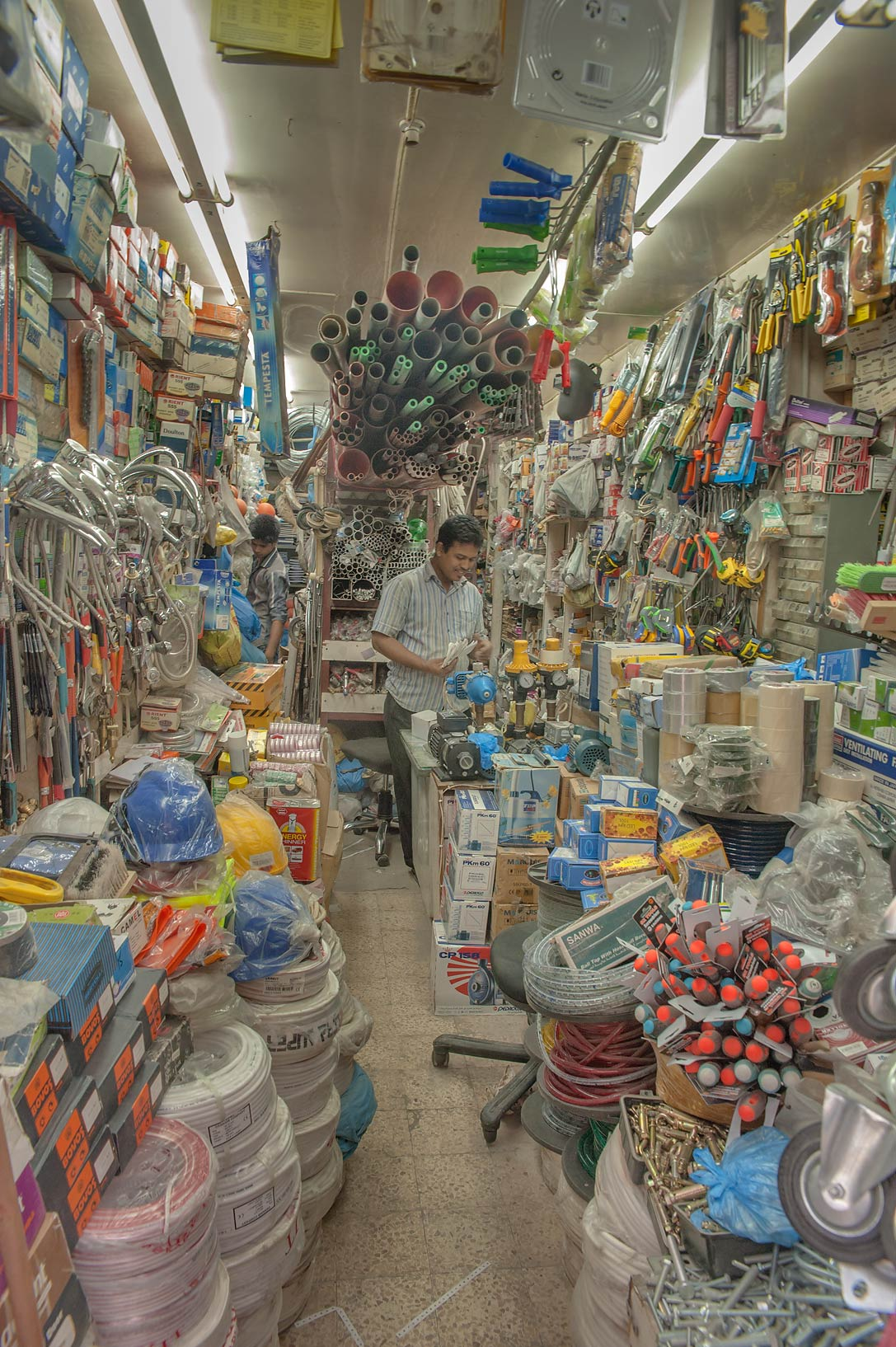 Electric ware shop at Al Najada St. in Musheirib neighborhood. Doha, Qatar