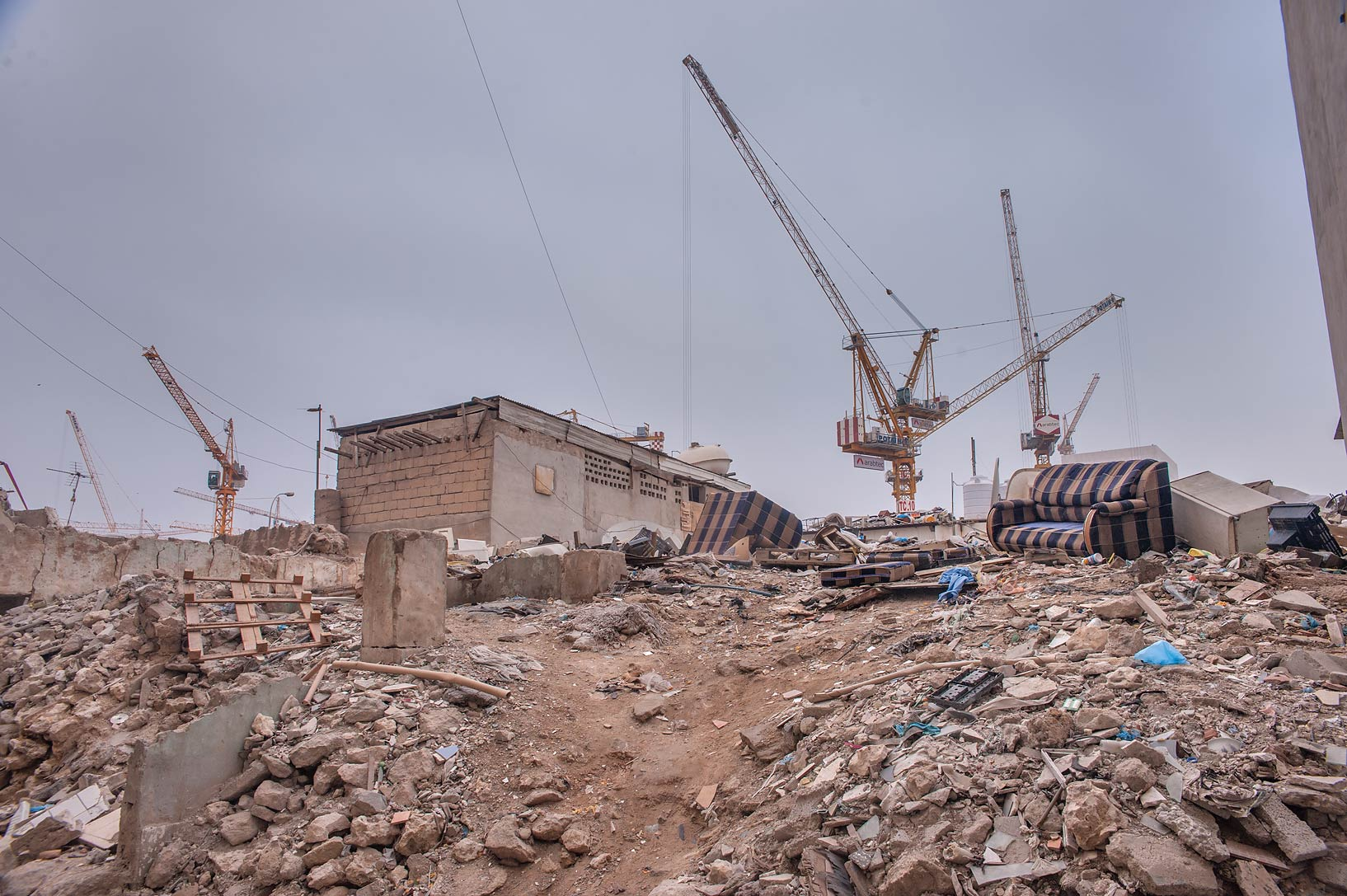 Musheirib construction project from ruins near Al Najada St.. Doha, Qatar