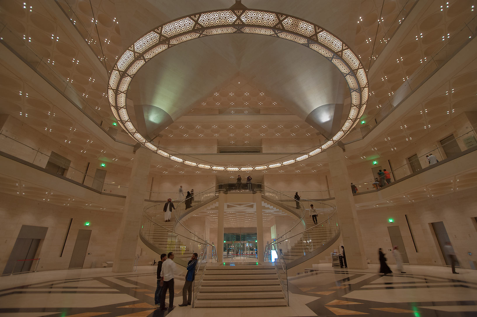 Grand staircase of Museum of Islamic Art. Doha, Qatar