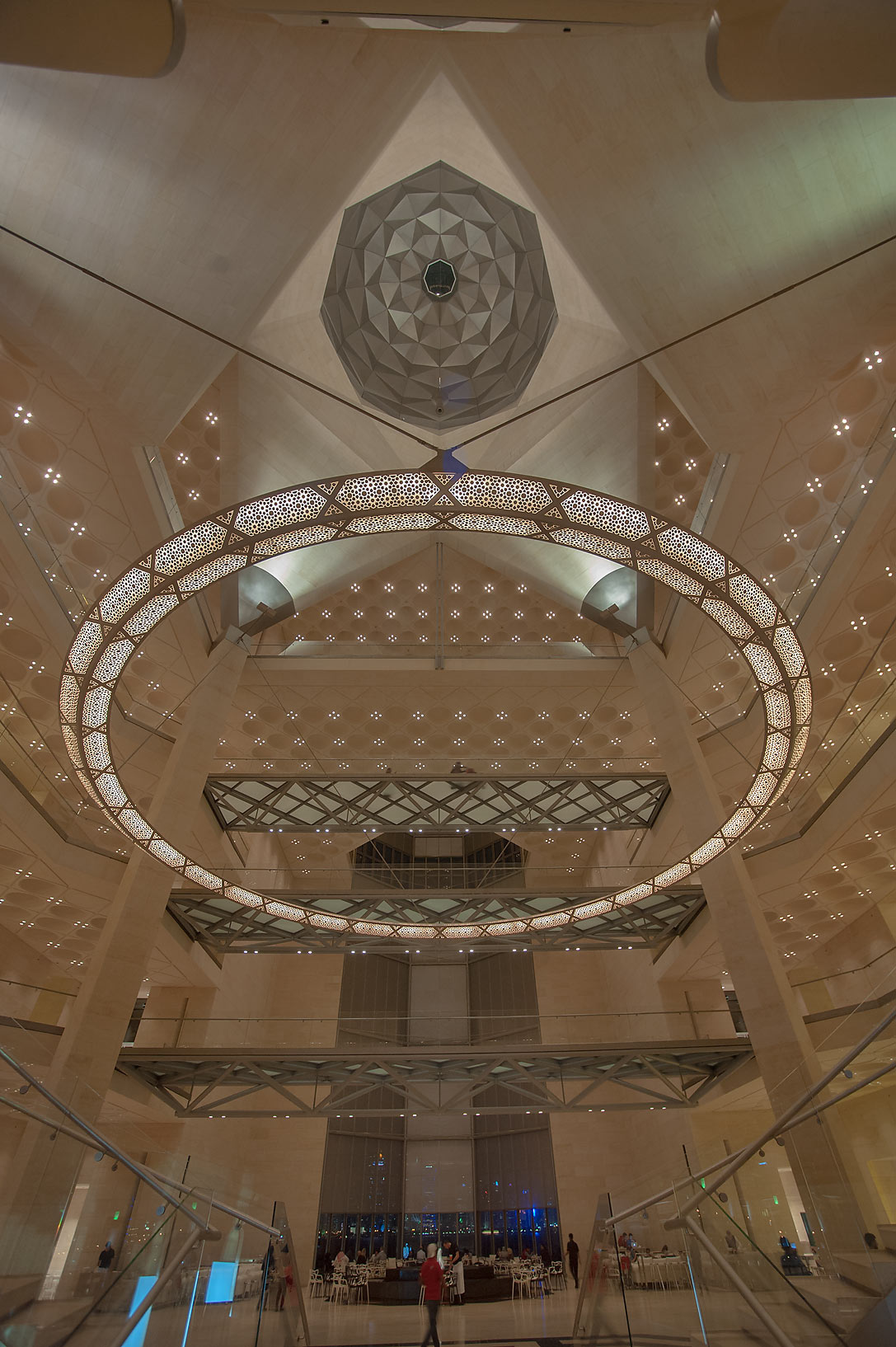 Geometrical patterns of atrium of Museum of Islamic Art. Doha, Qatar