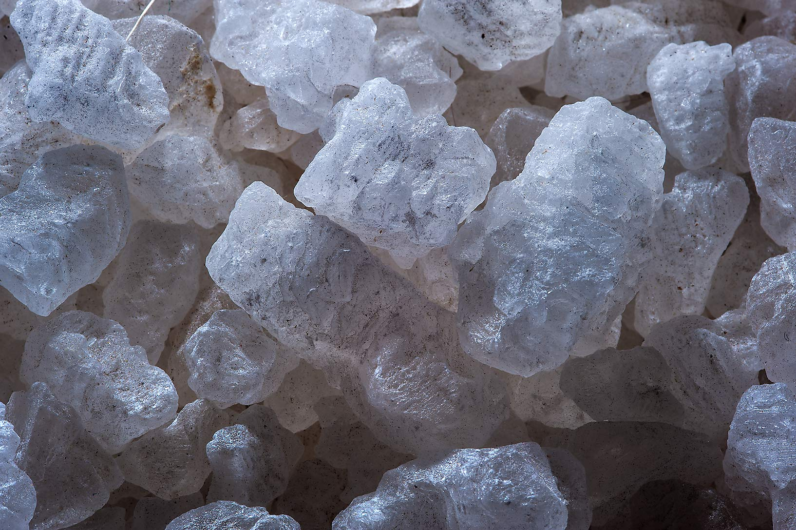 Salt crystals for sale in spice section of Souq Waqif (Old Market). Doha, Qatar