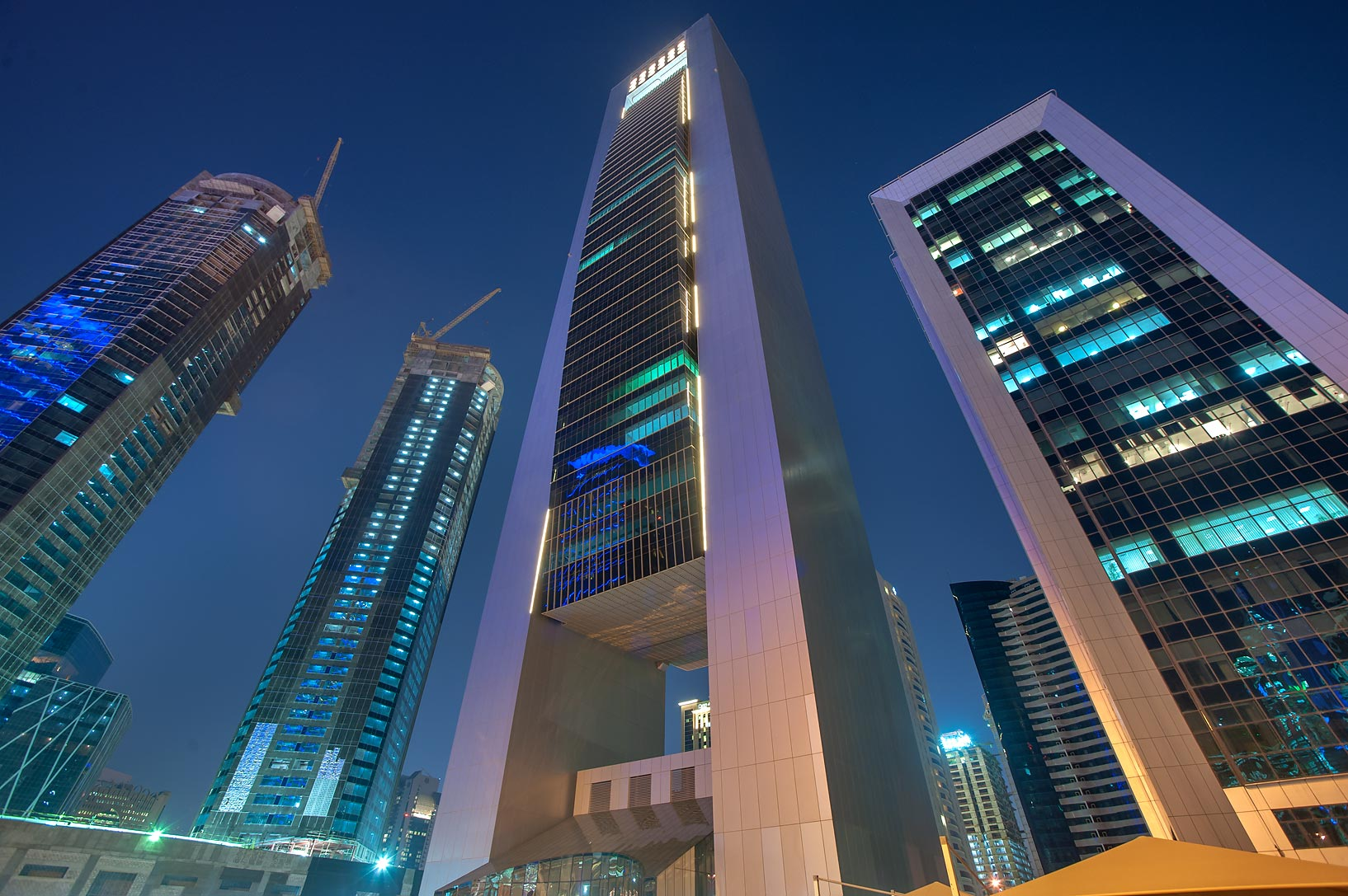 Faisal and Al Reem towers in West Bay. Doha, Qatar