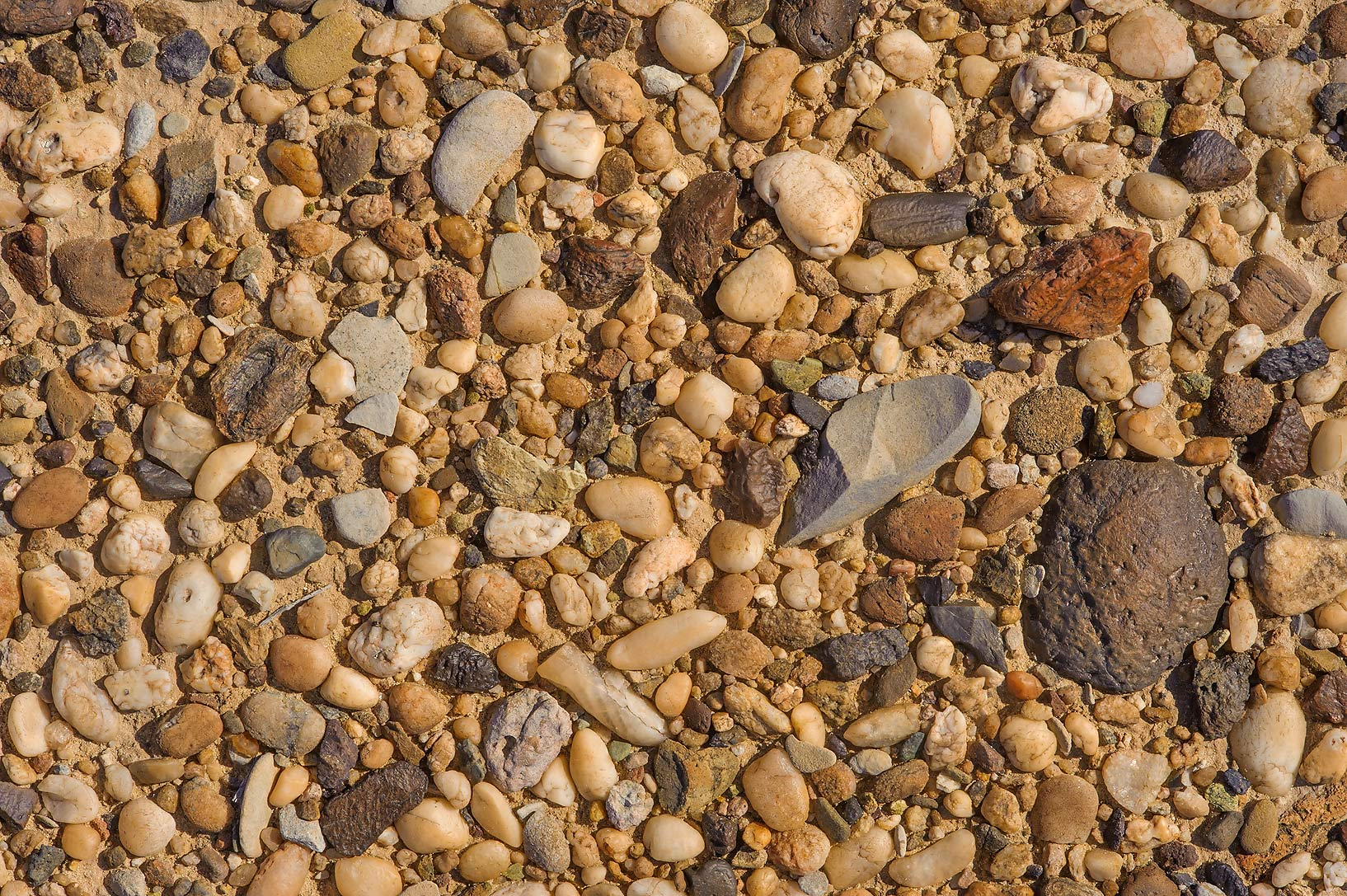 Desert pavement by pebbles near Harrarah in southern Qatar