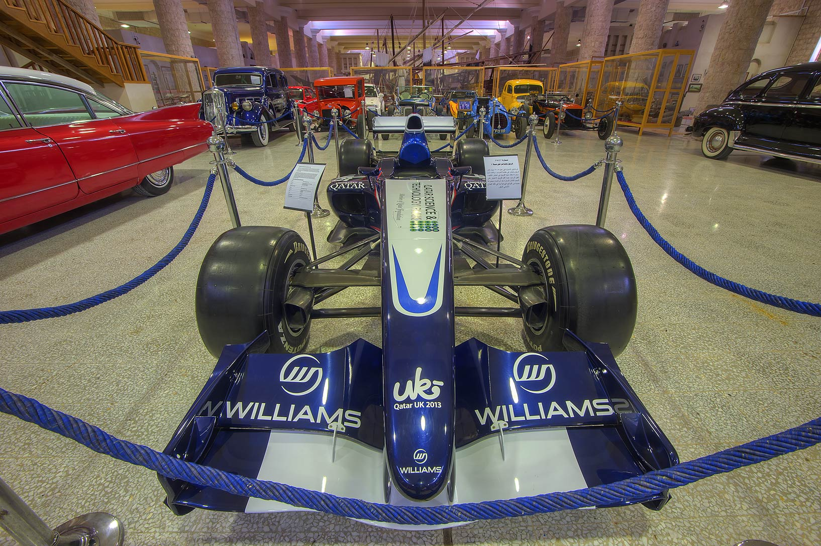 Williams racing car in Sheikh Faisal Bin Qassim...Museum near Al-Shahaniya. Doha, Qatar