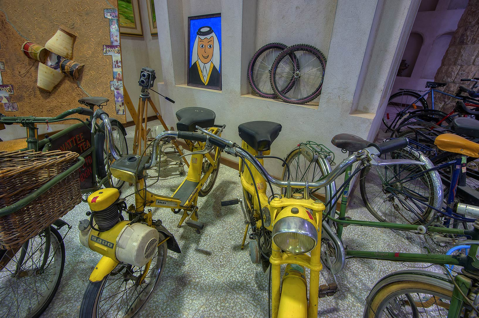 Children's bicycles in Sheikh Faisal Bin Qassim...Museum near Al-Shahaniya. Doha, Qatar