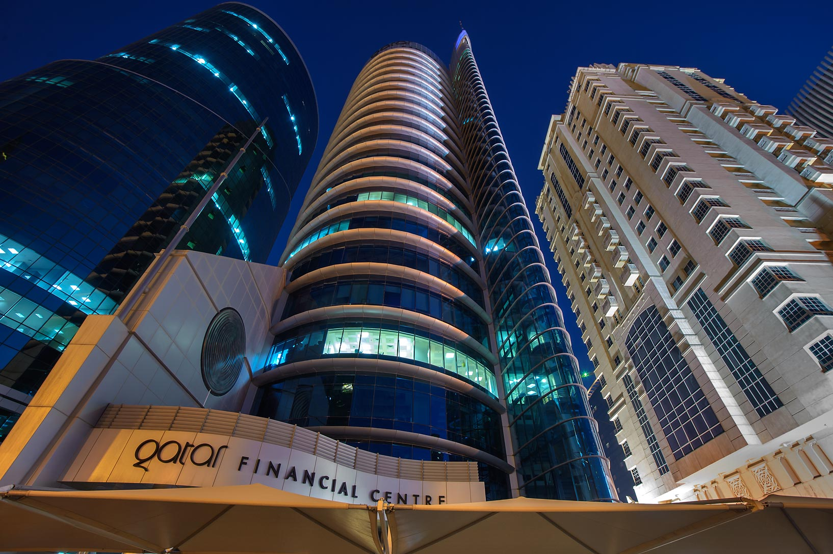 Financial Center Tower in West Bay. Doha, Qatar