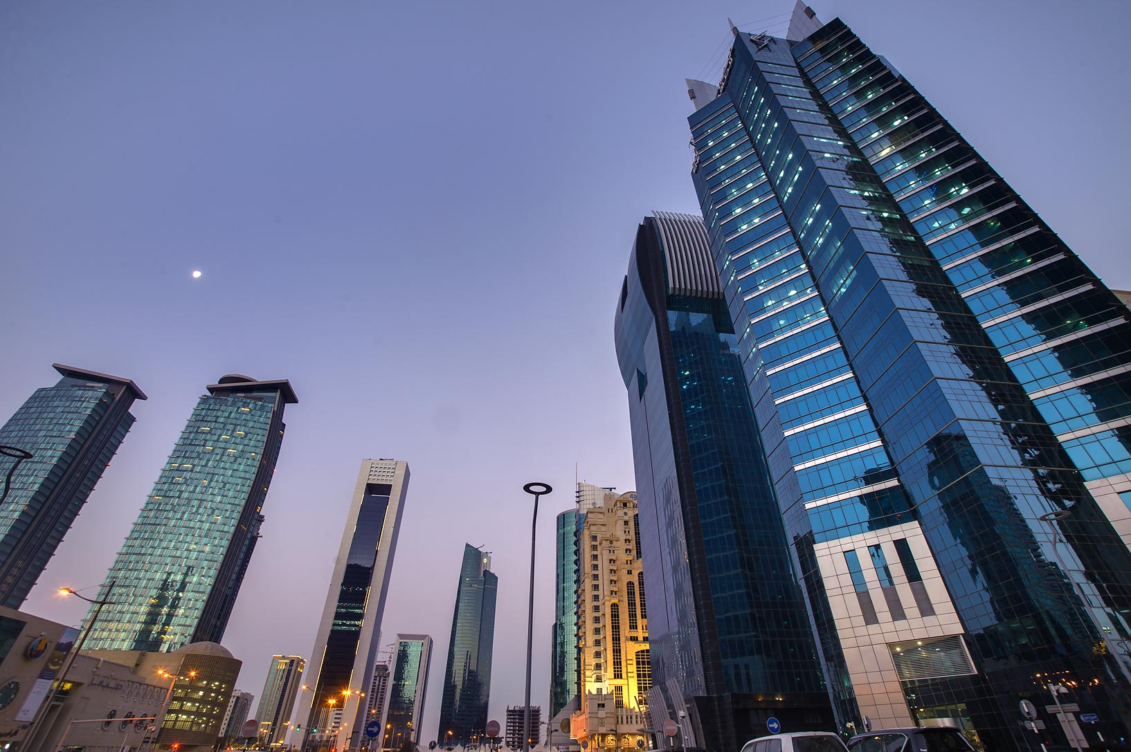 Dolphin Energy Tower on Conference Center St. in...opposite to City Center. Doha, Qatar