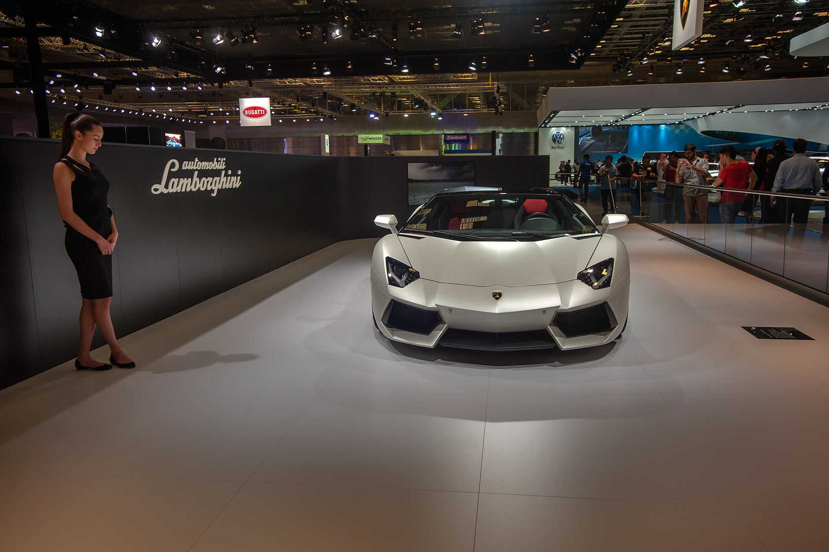 Front view of Lamborghini Aventador LP 700-4...Convention Centre. Doha, Qatar