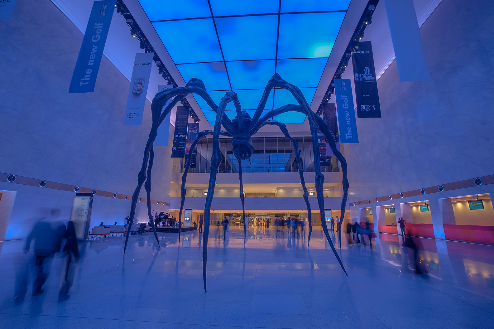 Maman Spider sculpture by Louise Bourgeois in...Convention Centre (QNCC). Doha, Qatar