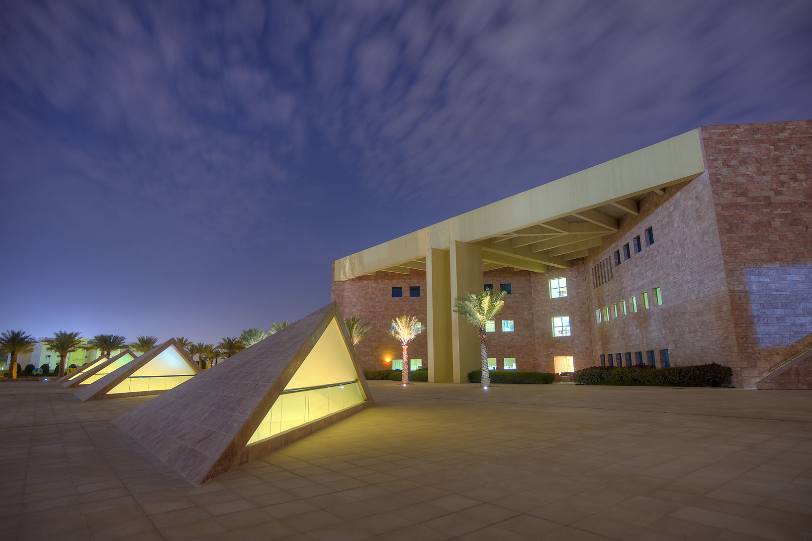Backyard of Texas A&M University in Education City campus. Doha, Qatar