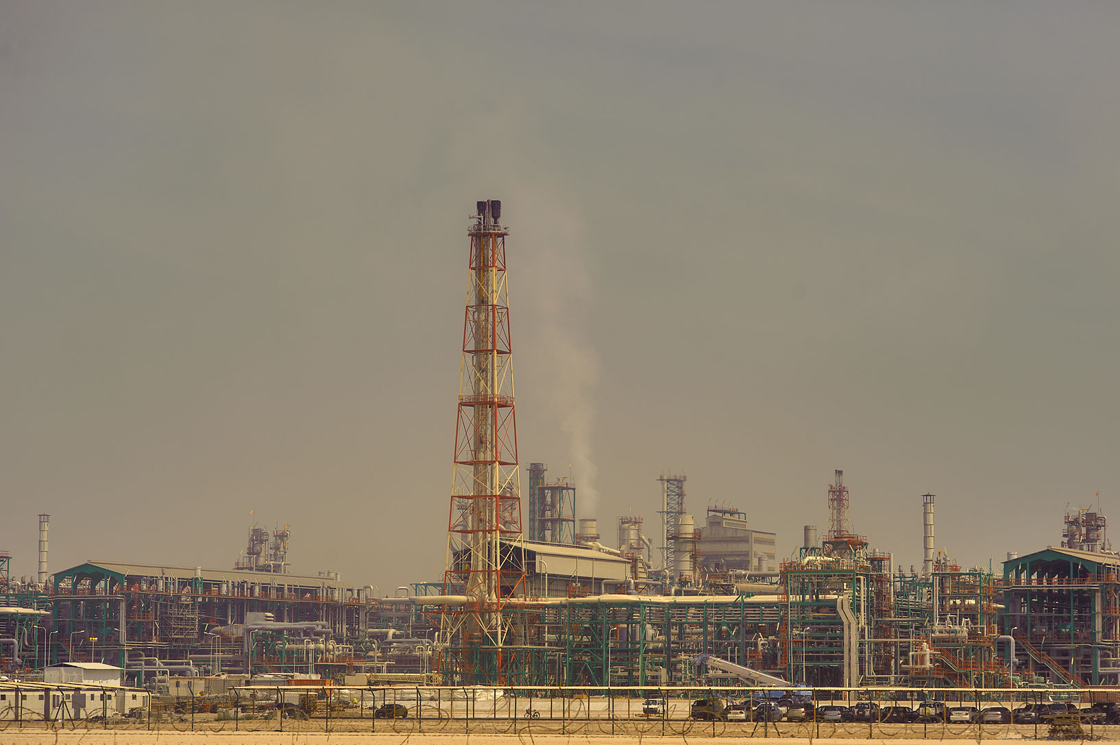 Oil factories in Mesaieed. Southern Qatar