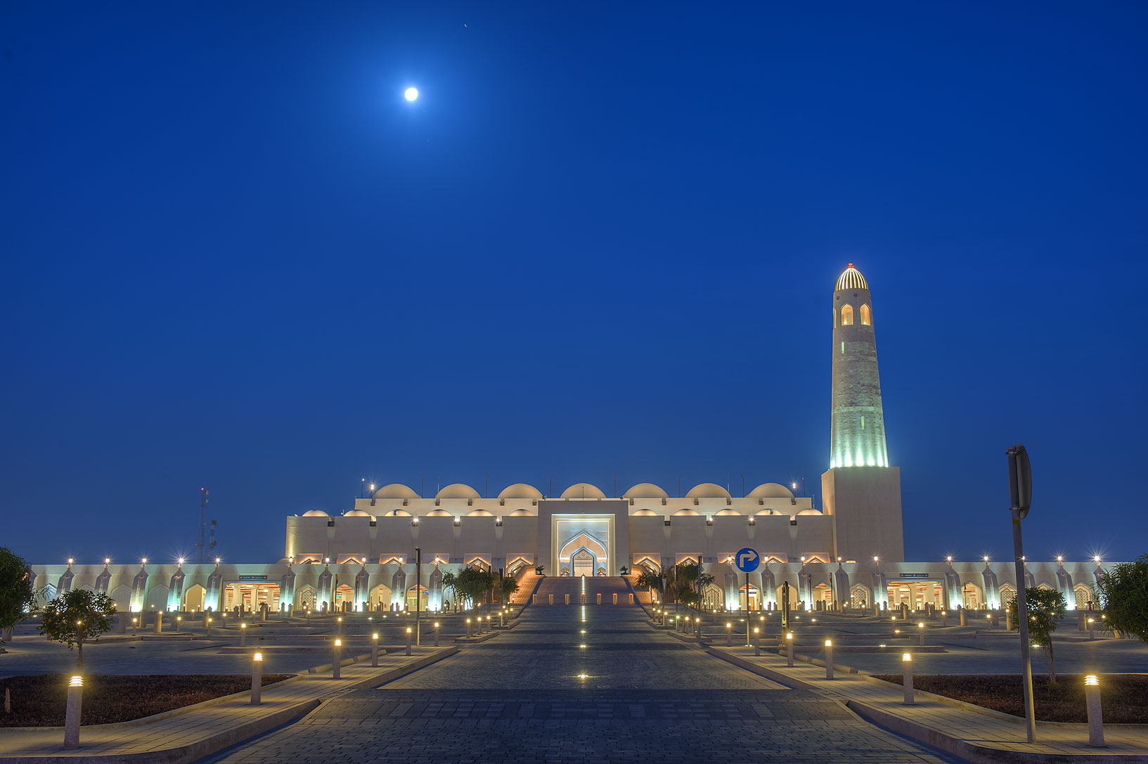 State Mosque (Sheikh Muhammad Ibn Abdul Wahhab Mosque) at morning. Doha, Qatar