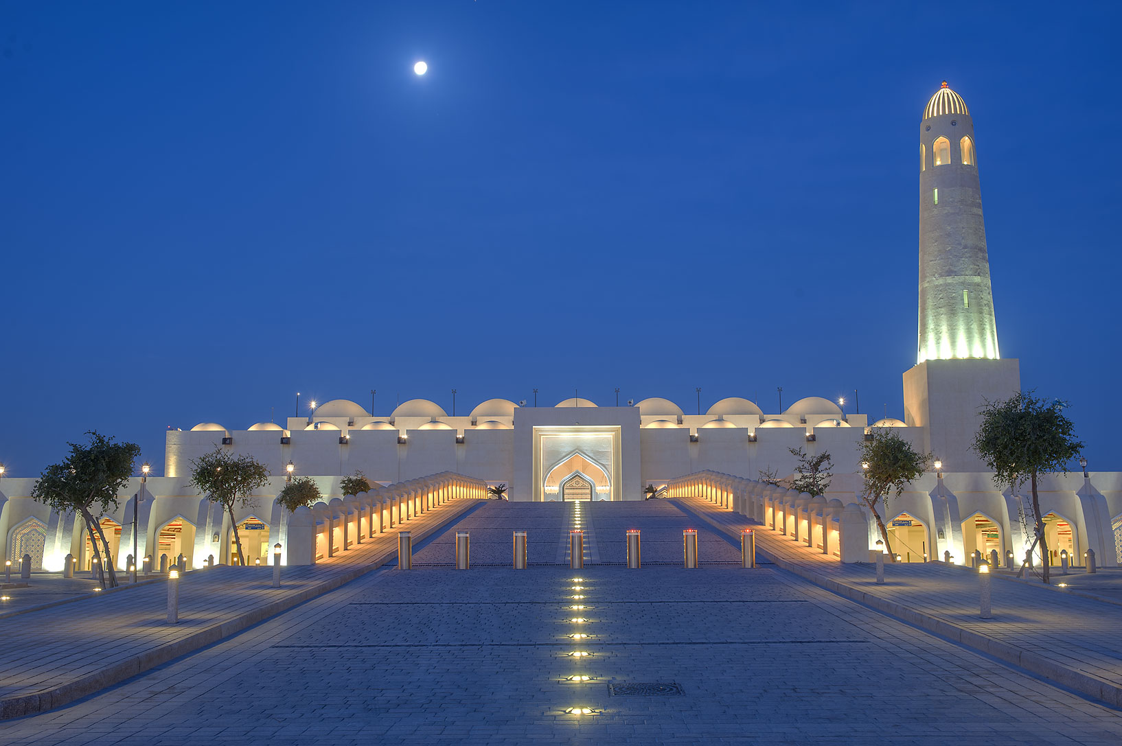 Ramp of State Mosque (Sheikh Muhammad Ibn Abdul Wahhab Mosque). Doha, Qatar