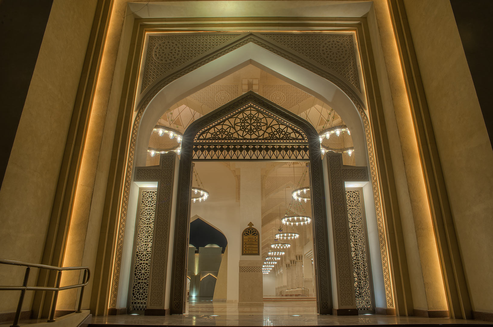 Woman's gate of State Mosque (Sheikh Muhammad Ibn Abdul Wahhab Mosque). Doha, Qatar