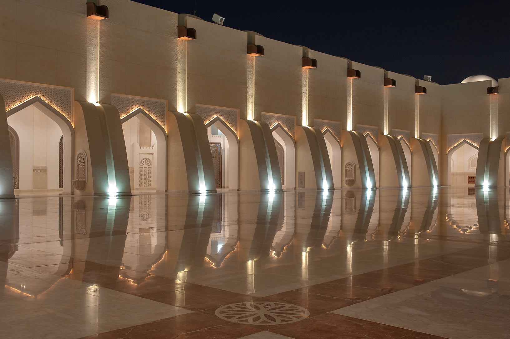 Stone courtyard of State Mosque (Sheikh Muhammad Ibn Abdul Wahhab Mosque). Doha, Qatar