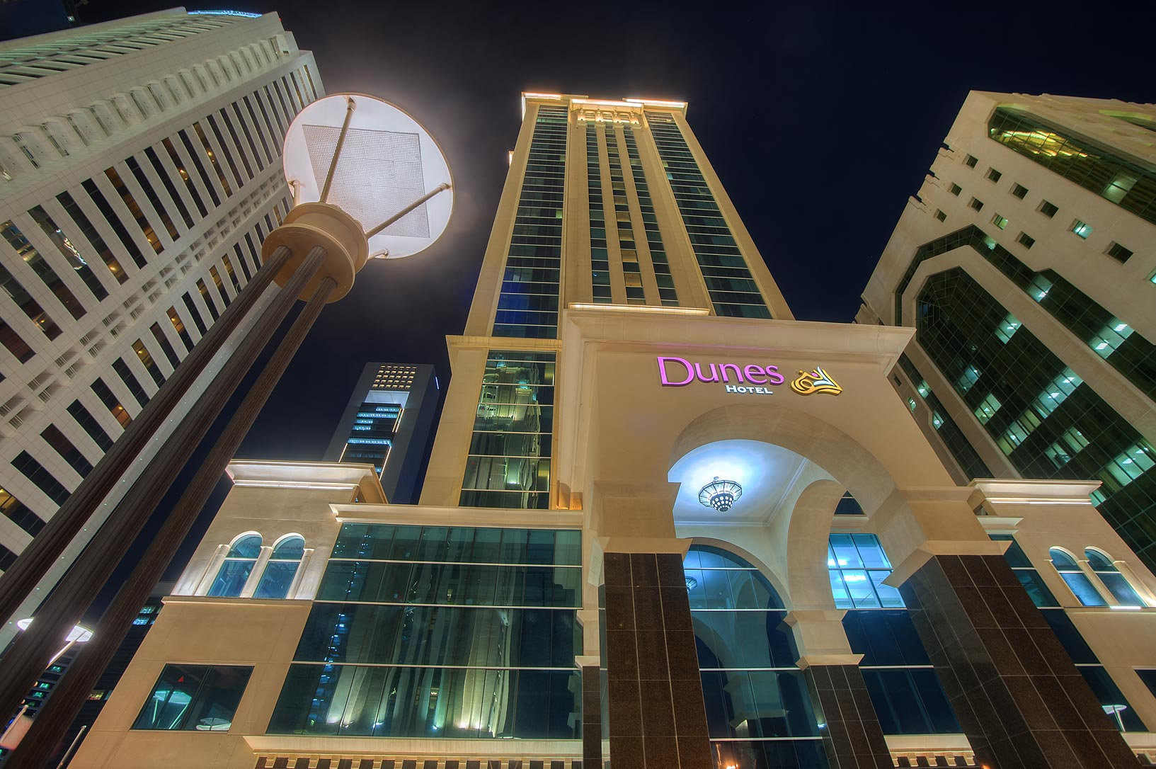 Dunes Hotel from Q-Shield head Offices St. in West Bay. Doha, Qatar